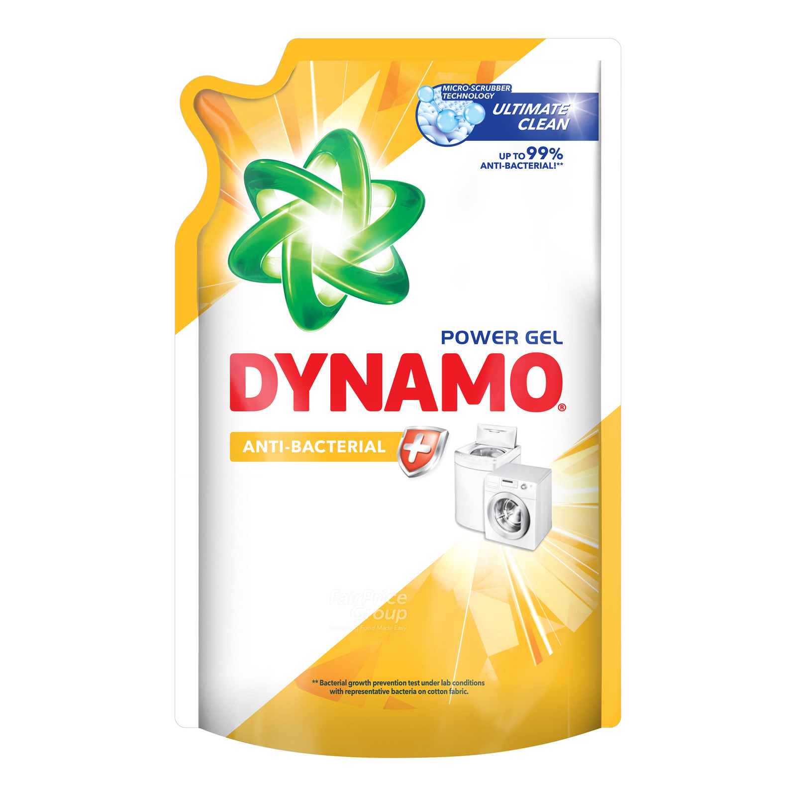 Dynamo Power Gel Laundry Detergent Refill - Anti-bacterial