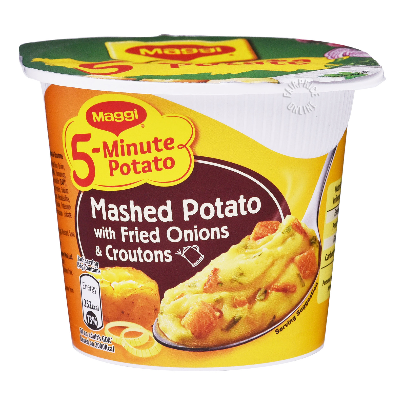 Maggi 5-Minute Instant Mashed Potato - Fried Onions & Croutons