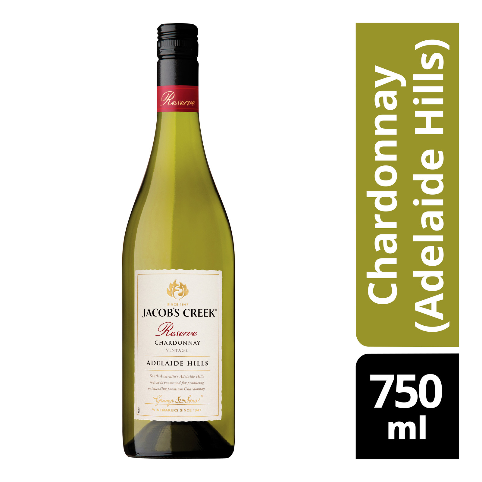 Jacob's Creek Reserve White Wine - Chardonnay (Adelaide Hills)