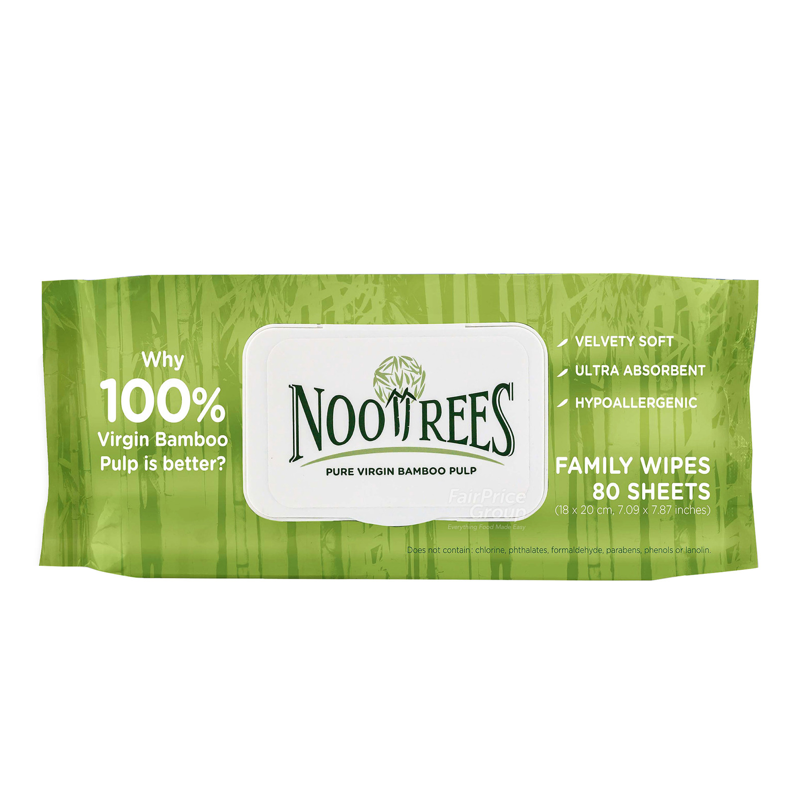 NooTrees Bamboo Family Wet Wipes