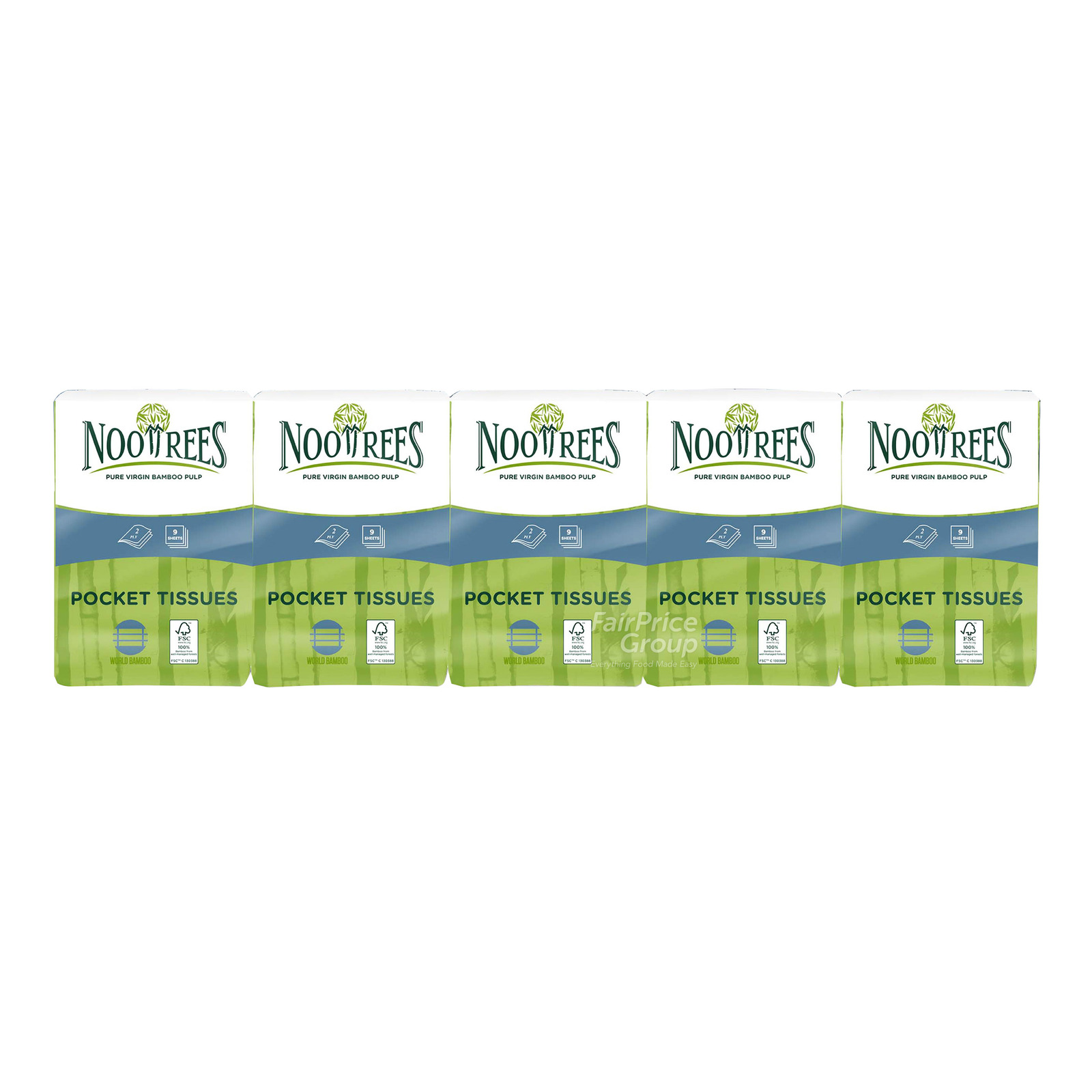 NooTrees Bamboo Pulp Pocket Tissue (2ply)