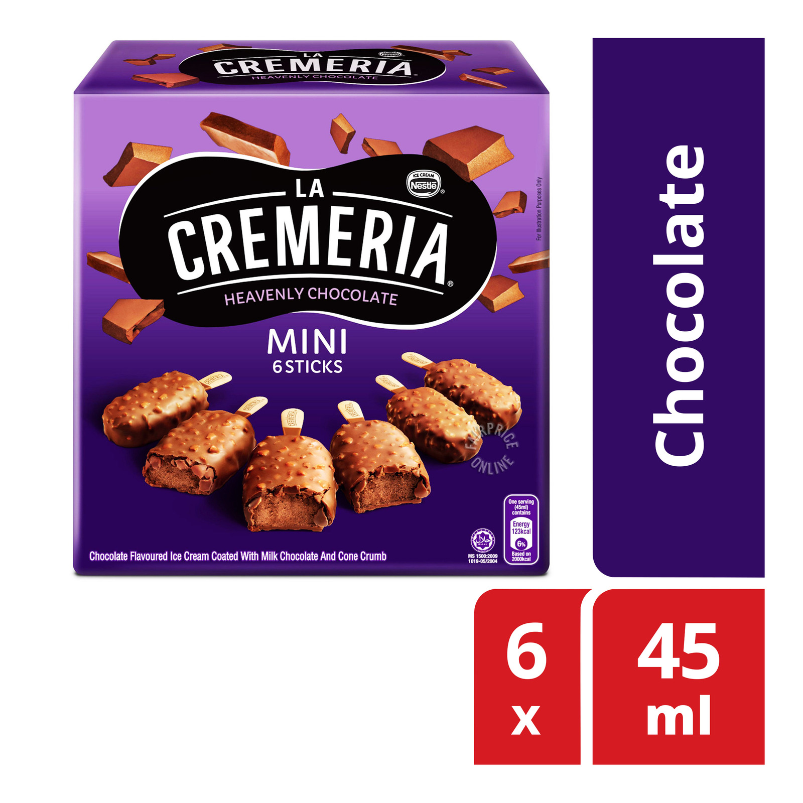Nestle La Cremeria Mini Ice Cream Sticks - Chocolate