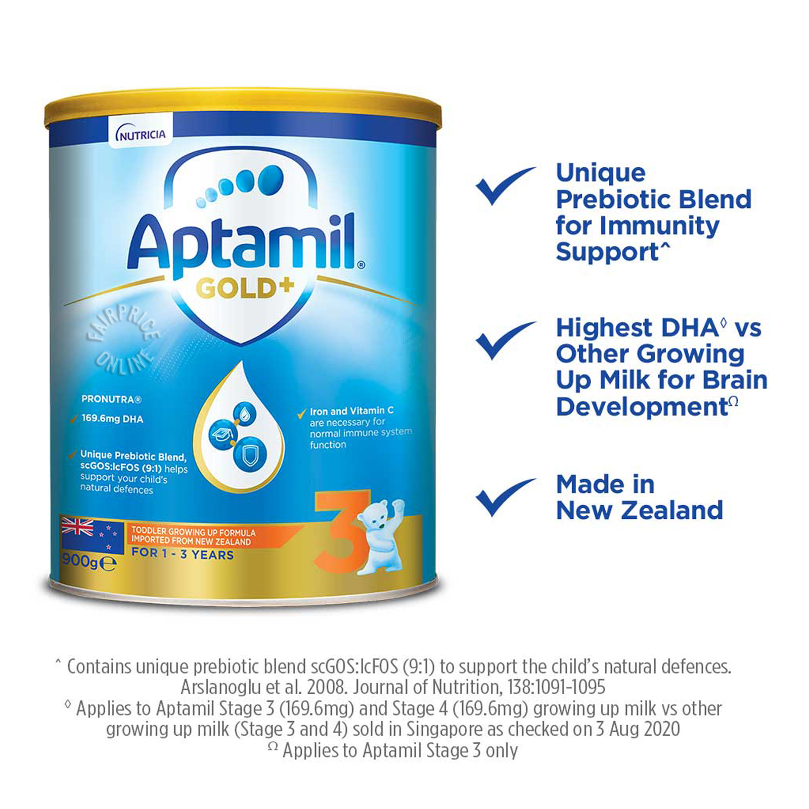 Aptamil Gold+ Toddler Growing Up Milk Formula - Stage 3
