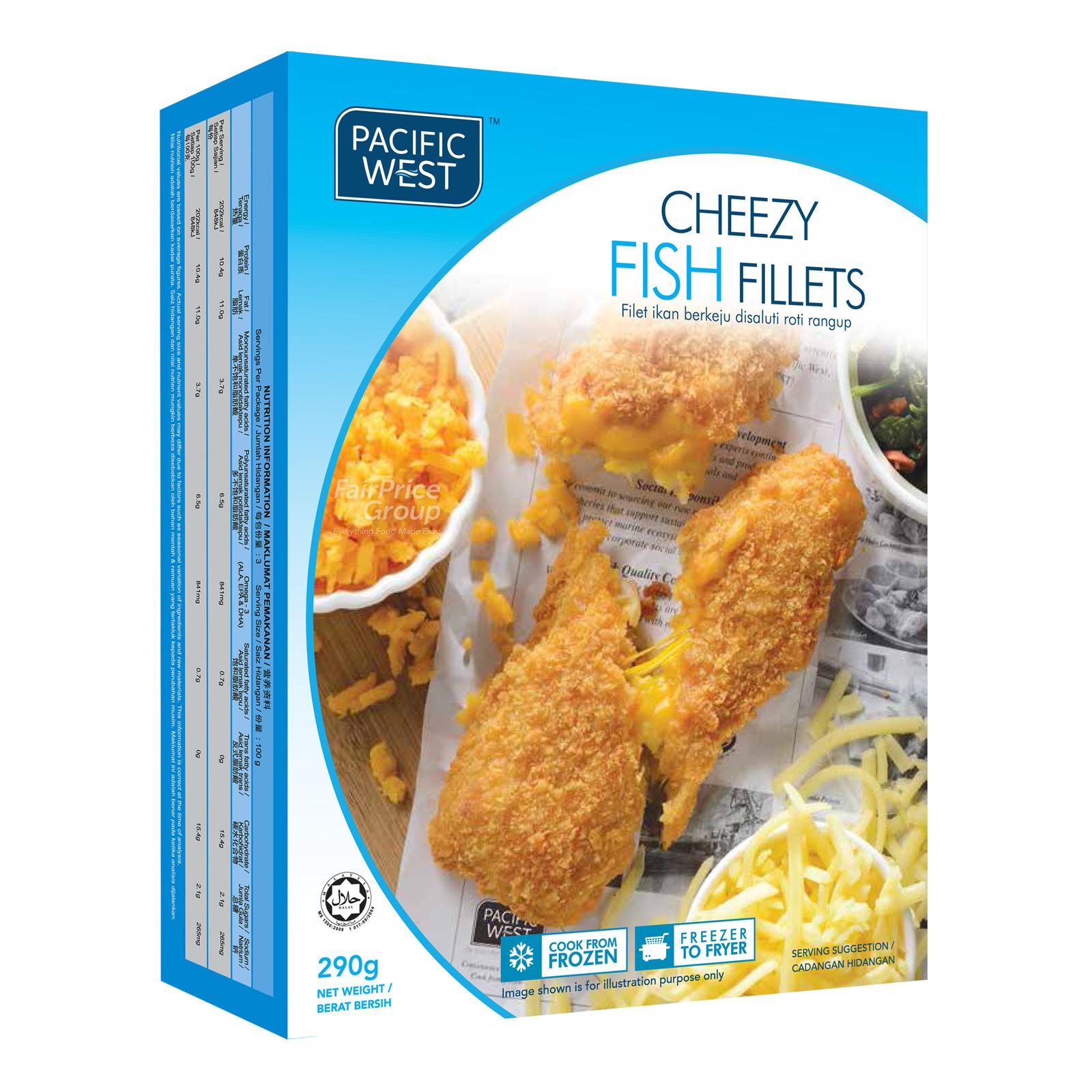 Pacific West Frozen Fish Fillets - Cheezy