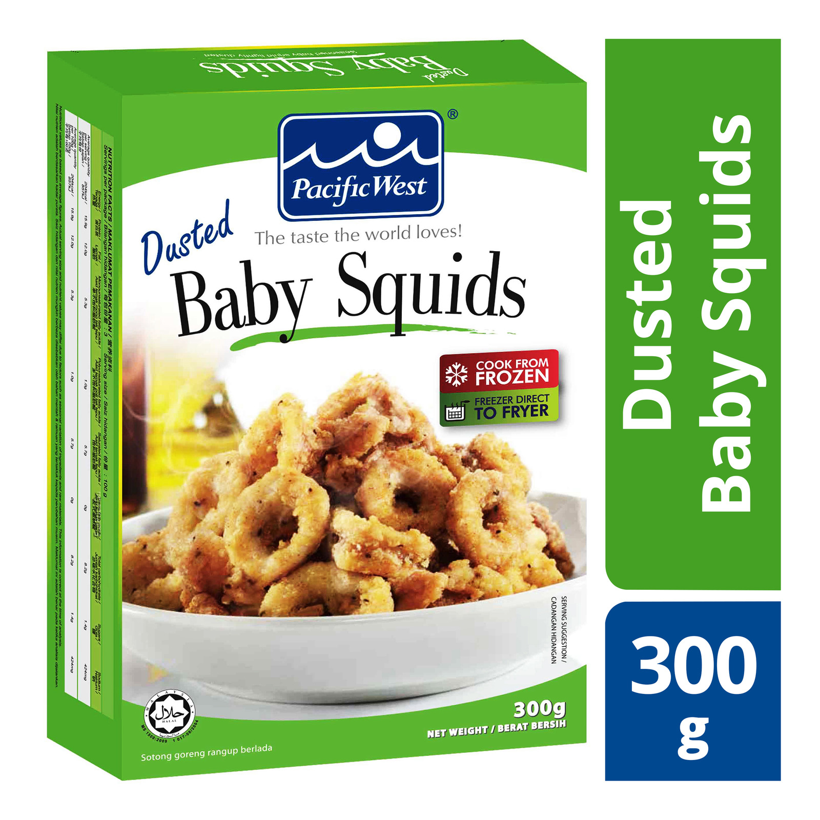 Pacific West Frozen Dusted Baby Squids