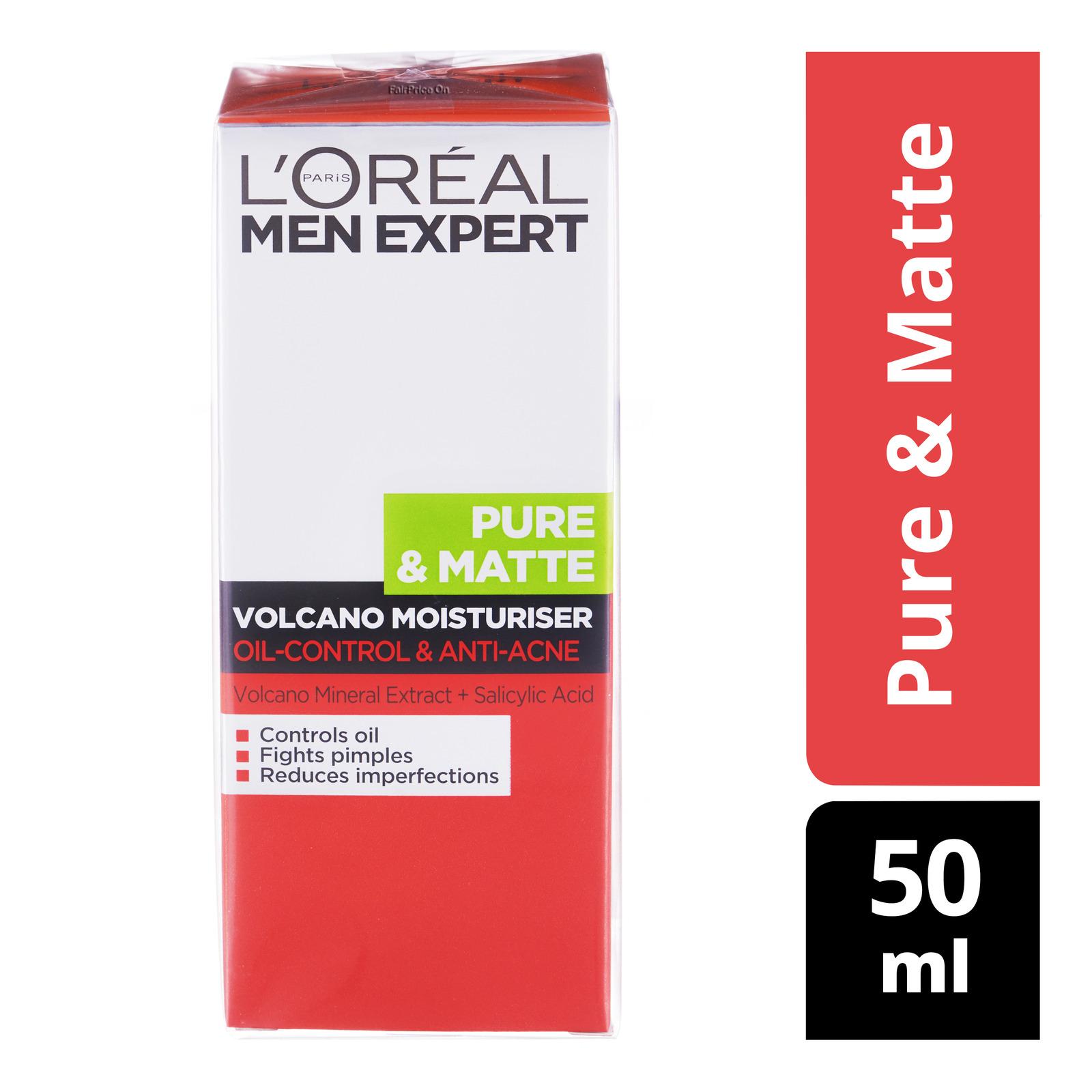 L'Oreal Men Expert Pure Matte Volcano Moisturizer, 50ml