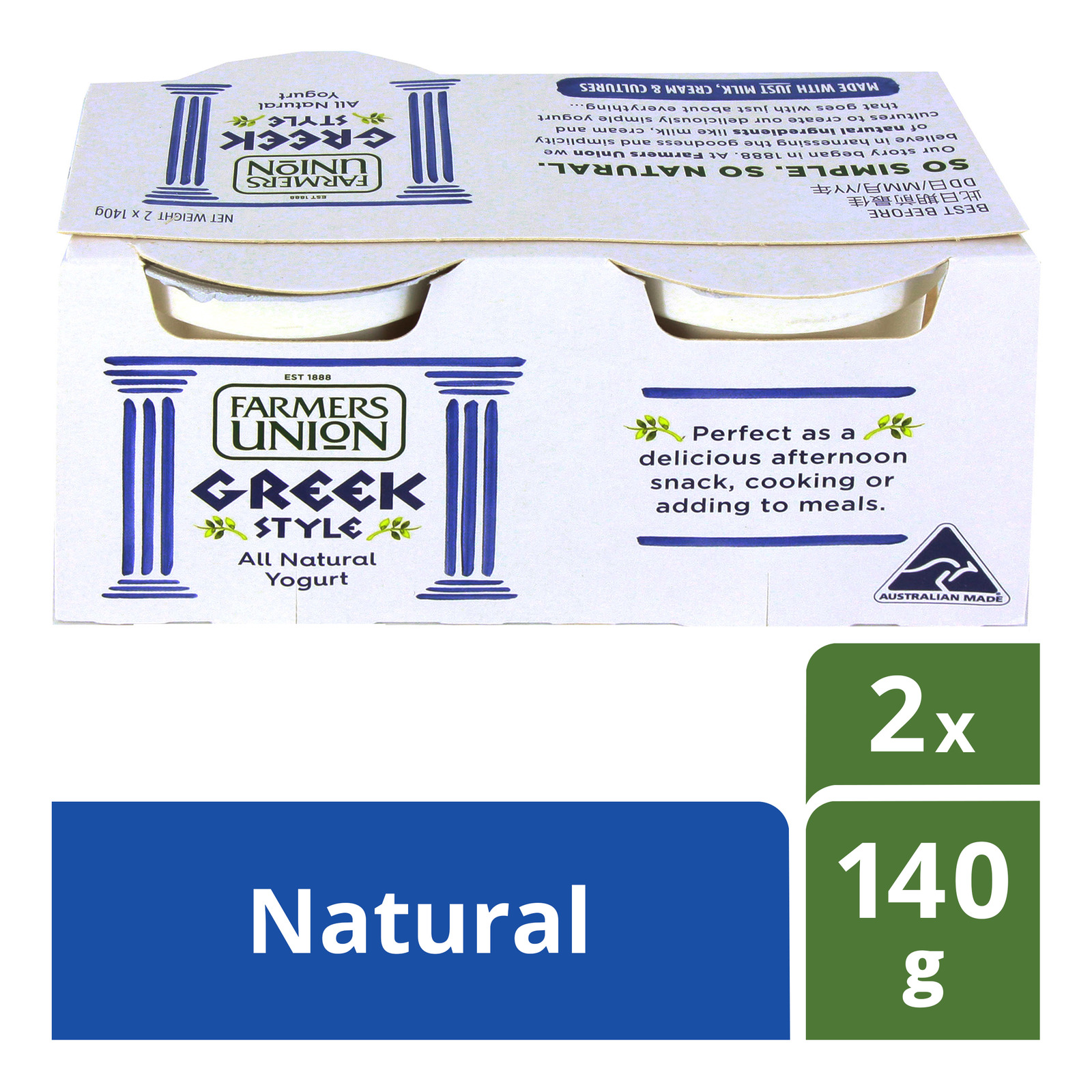 Farmers Union Greek Style Yoghurt - Natural