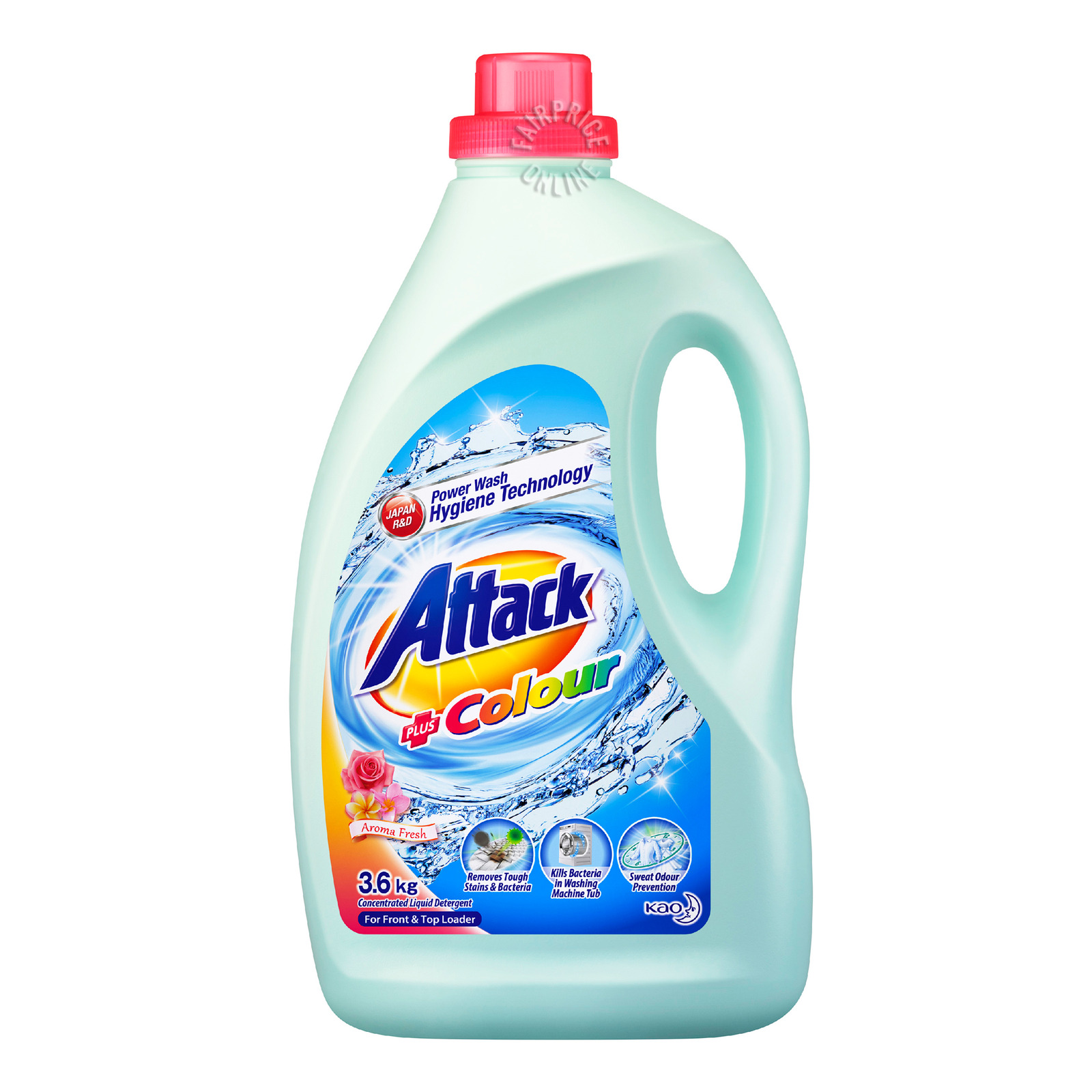 ATTACK Laundry Liquid - Sweet Floral + Softener 3.6kg