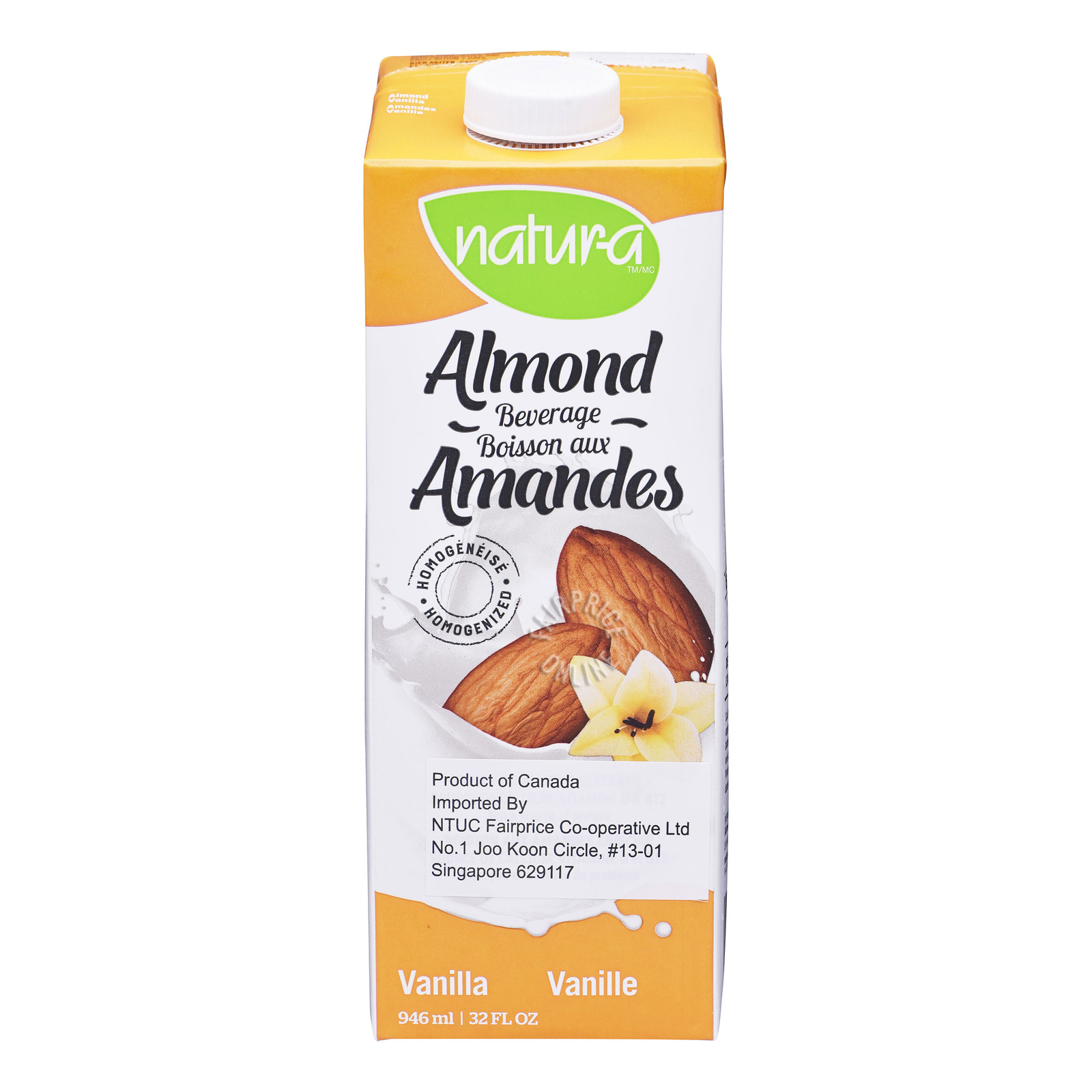 Natur-A Fortified Almond Beverage - Vanilla