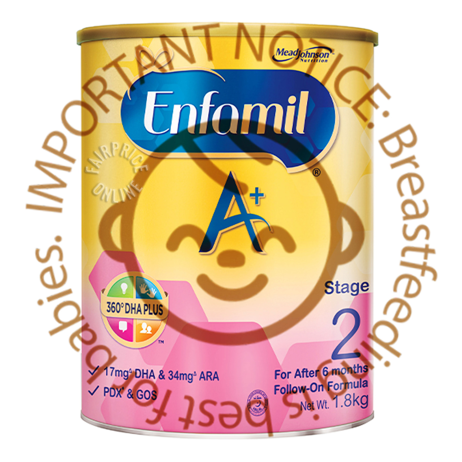 Enfamil A+ with 360-degree DHA PLUS Stage 2 (1.8kg)
