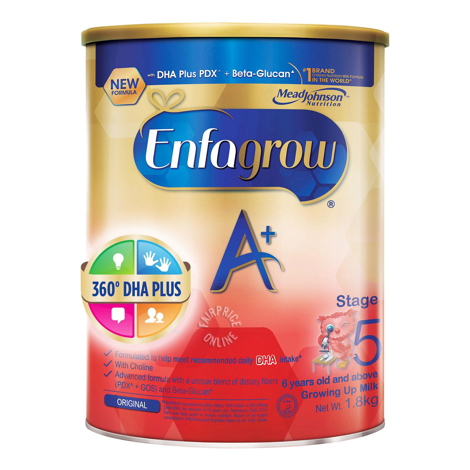 ENFAGROW A+ 360 DHA Stage 5 Milk Formula Original 1.8kg