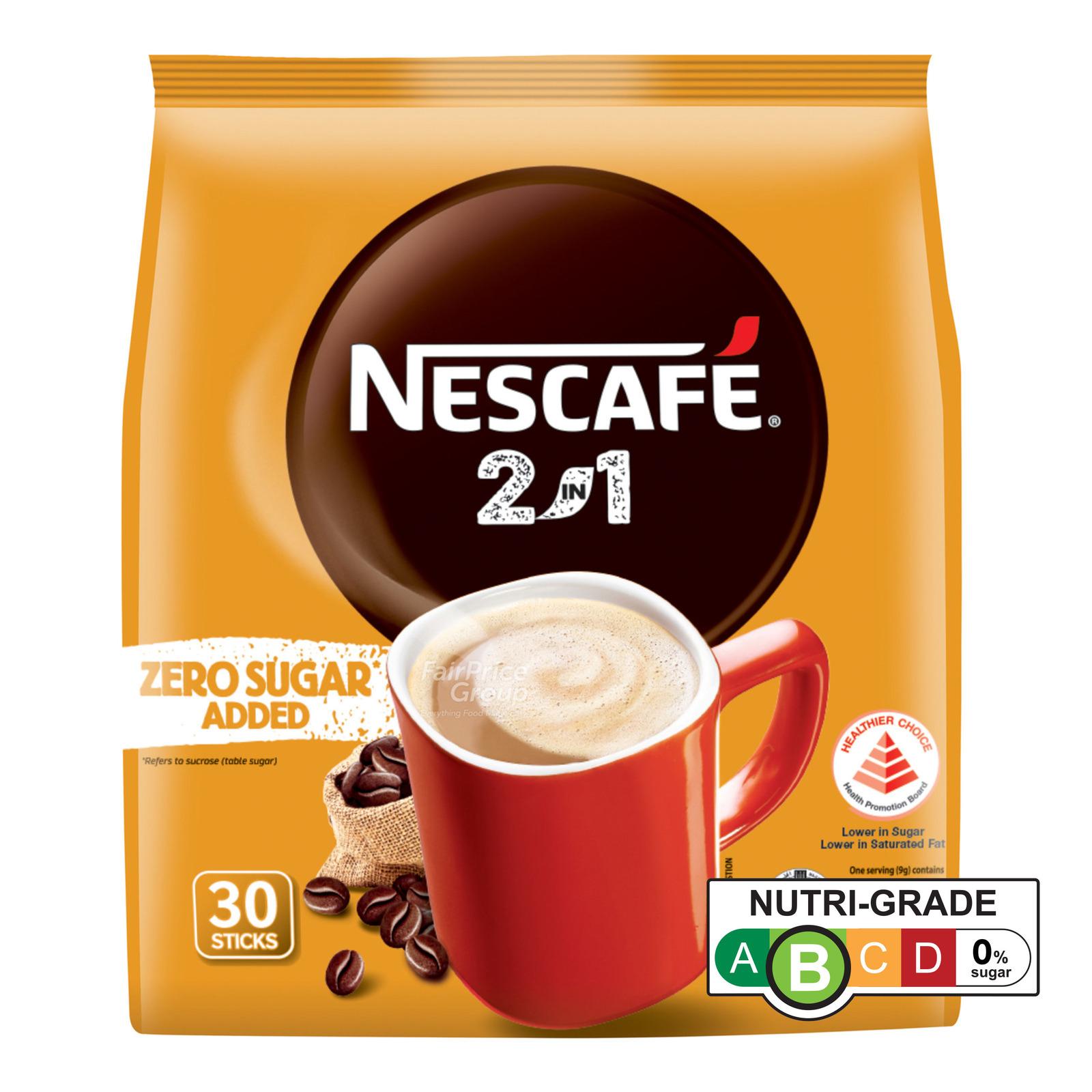 Nescafe 2 in 1 Instant Coffee - Original (Zero Sugar Added)