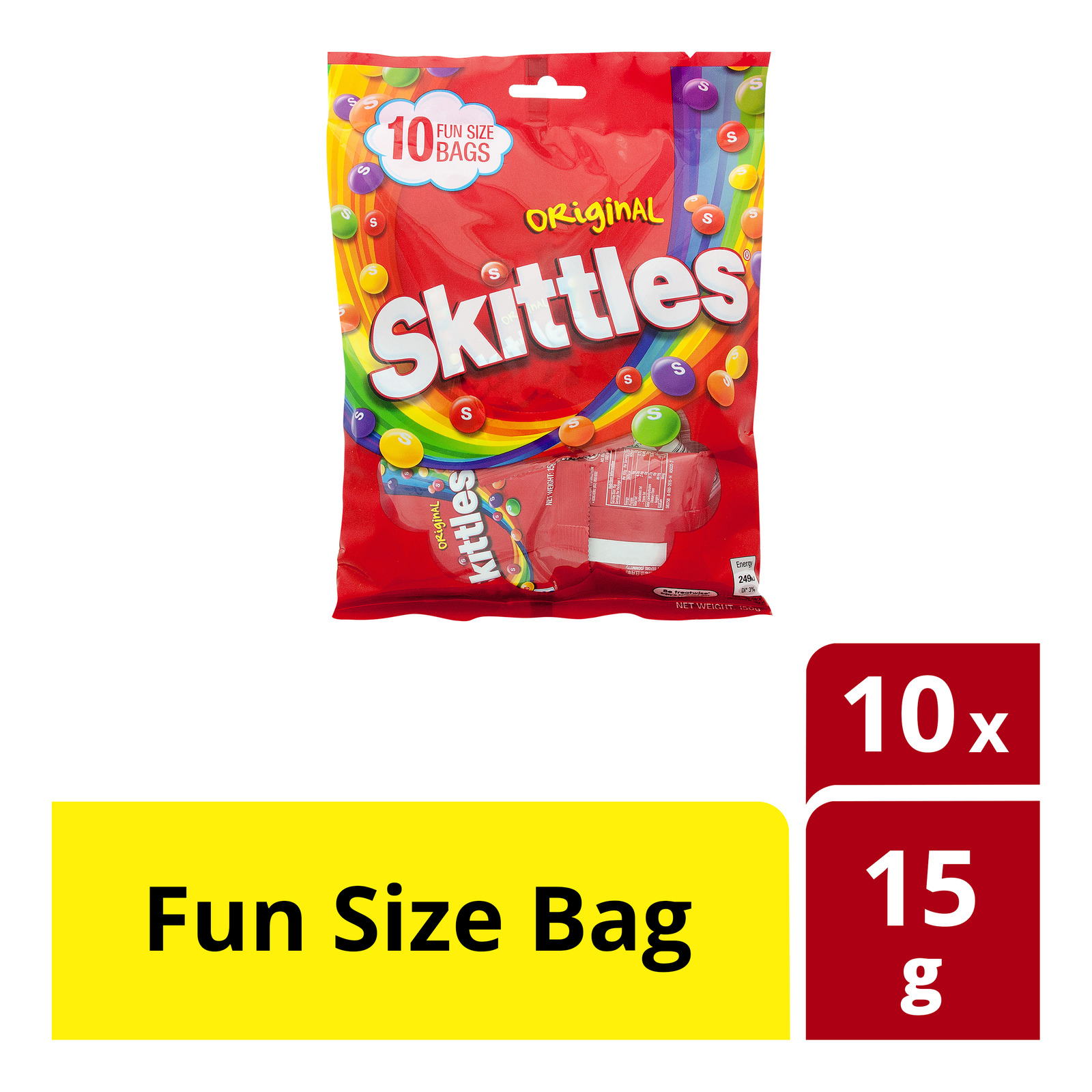 Skittles Candies - Original (Fun Size Bag)