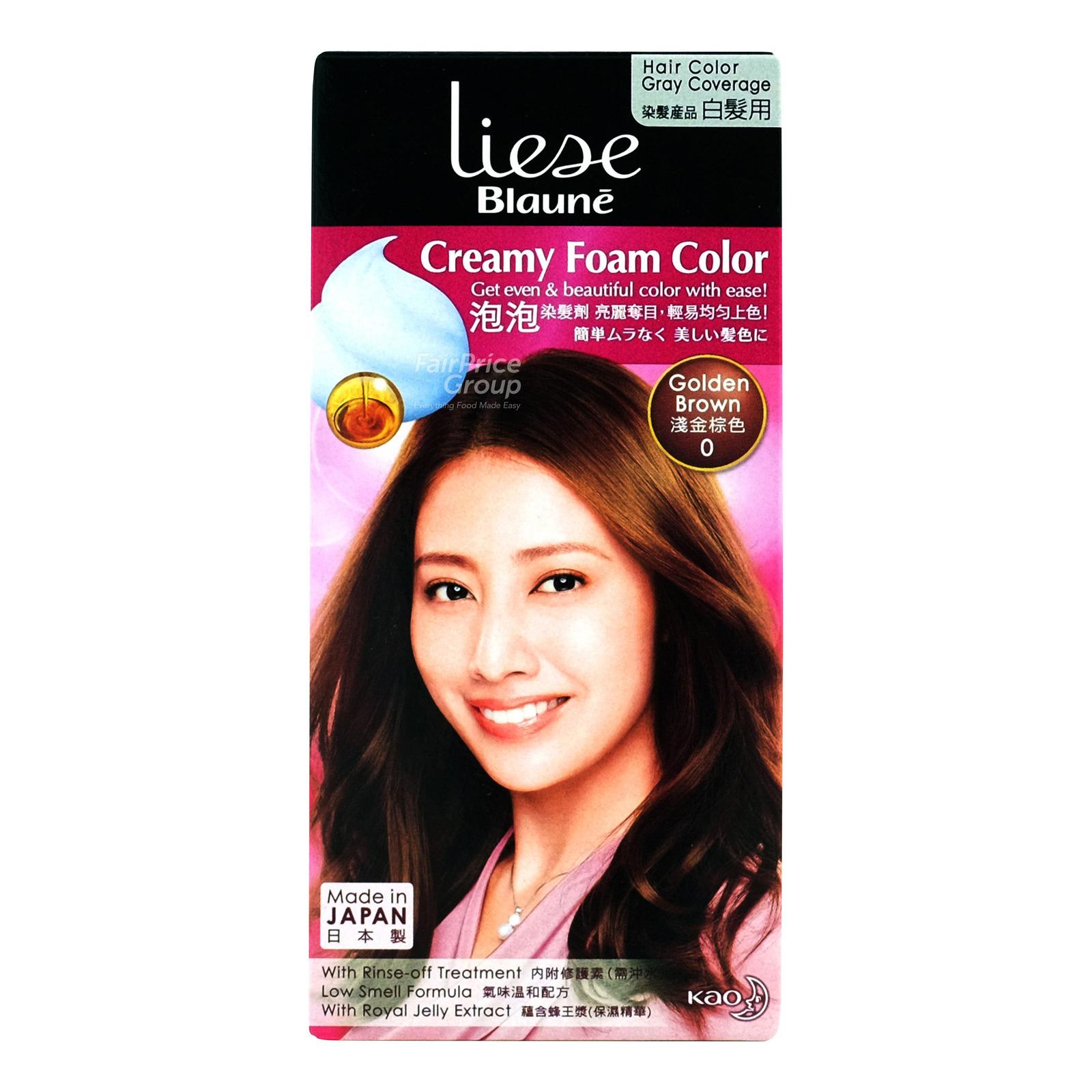 Liese Blaune Creamy Foam Hair Colour - Golden Brown (0)