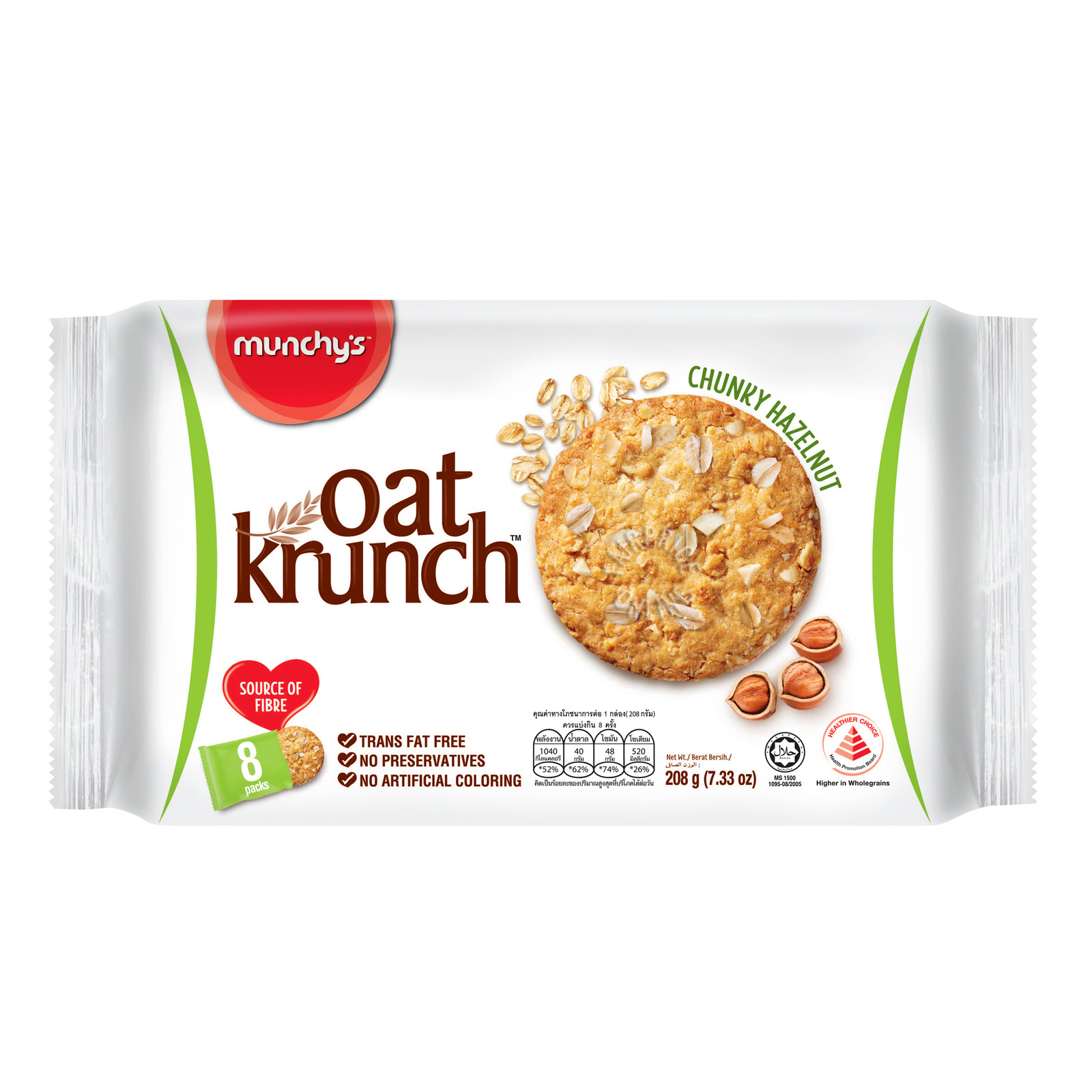 Munchy's Oat Krunch Crackers - Chunky Hazelnut