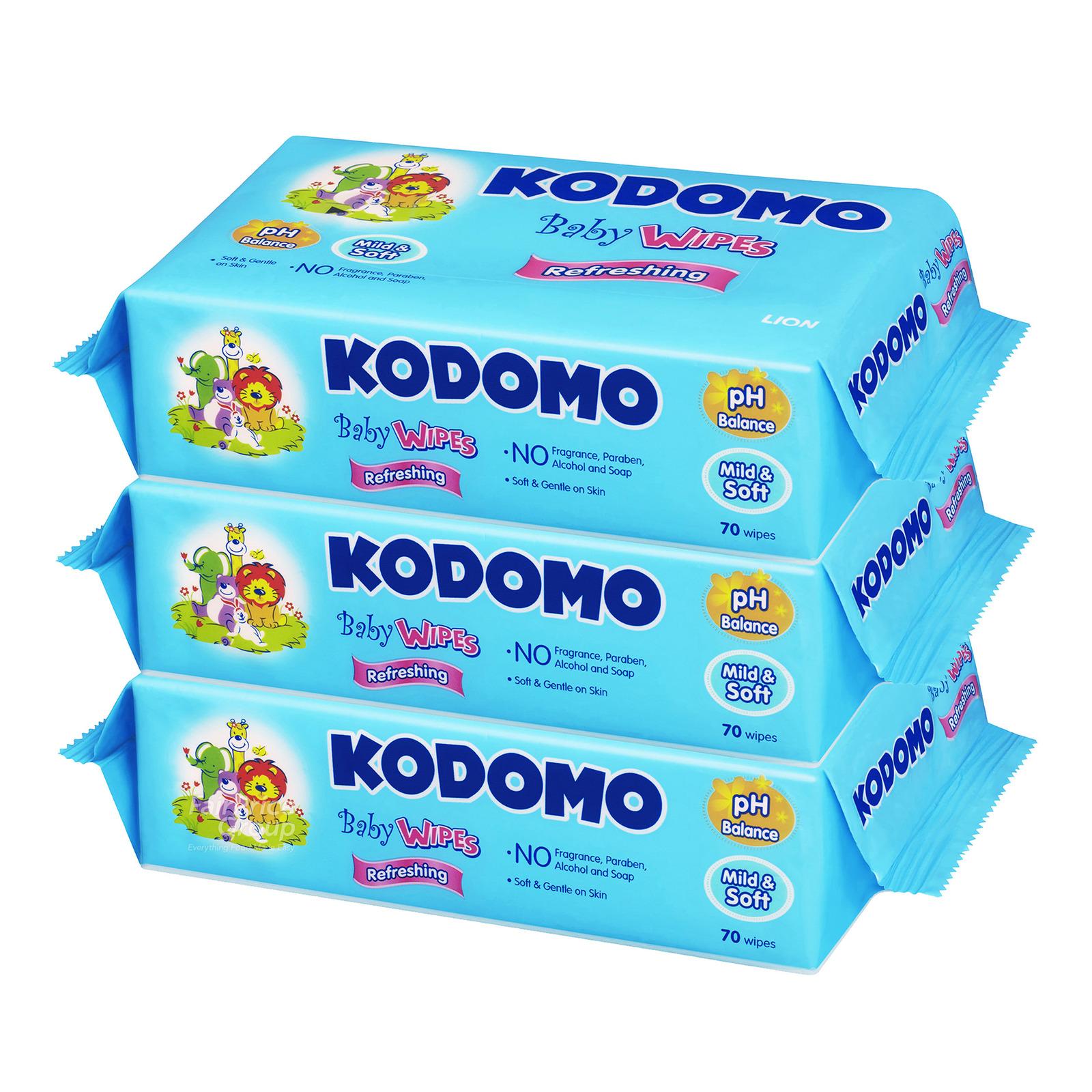 Kodomo Baby Wipes - Refreshing