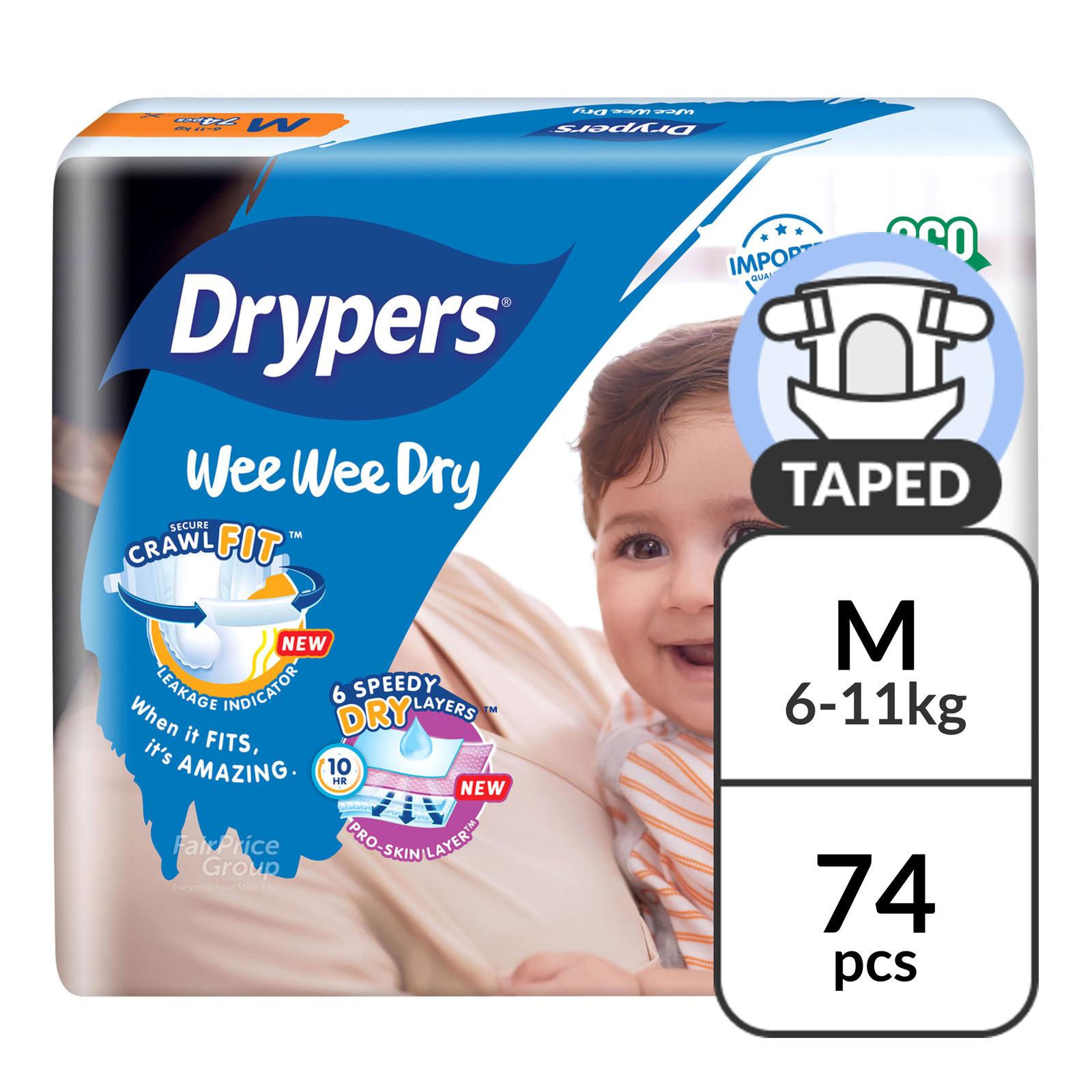 Drypers Wee Wee Dry Diapers - M (6 - 11kg)