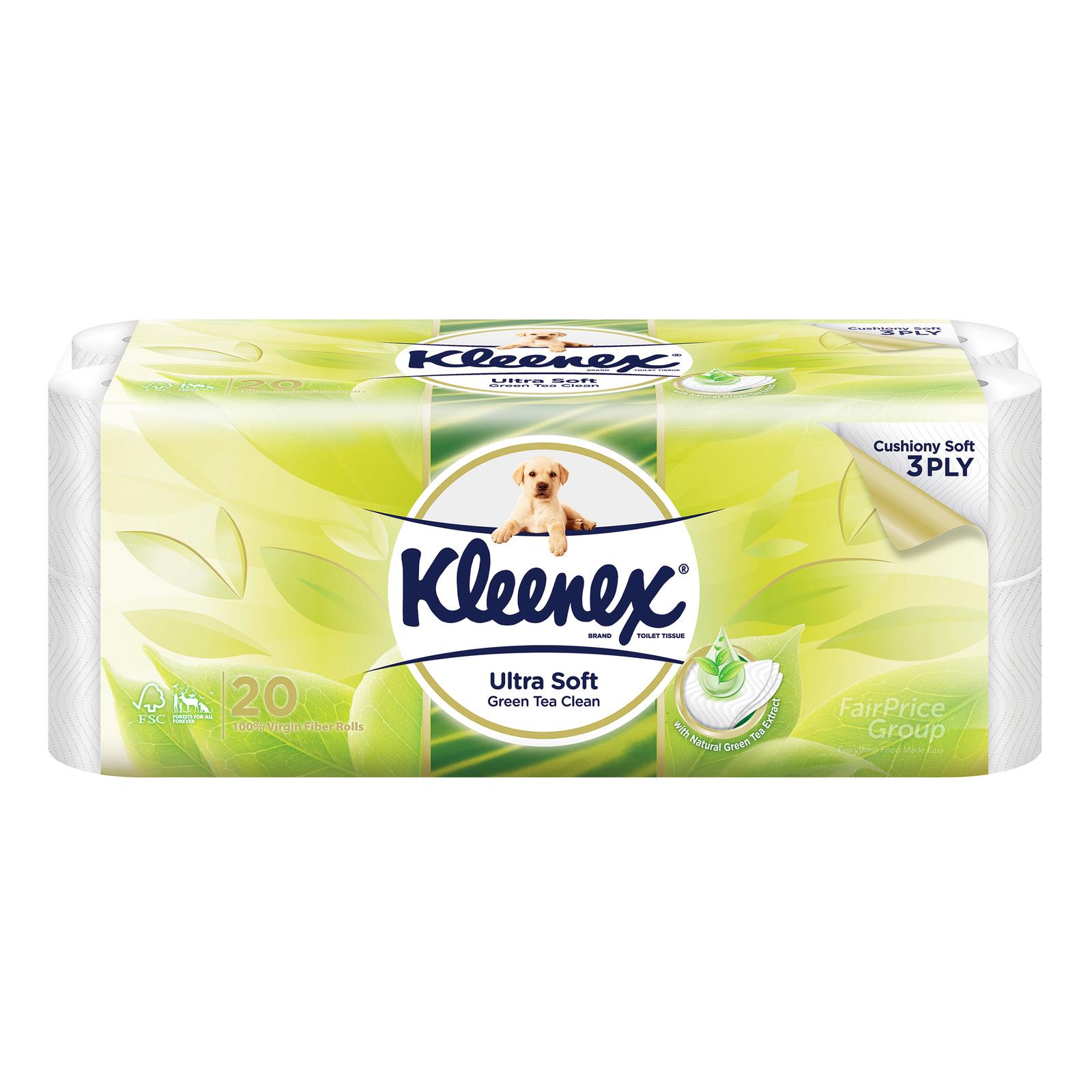 Kleenex Clean Care Toilet Tissue Rolls - Green Tea