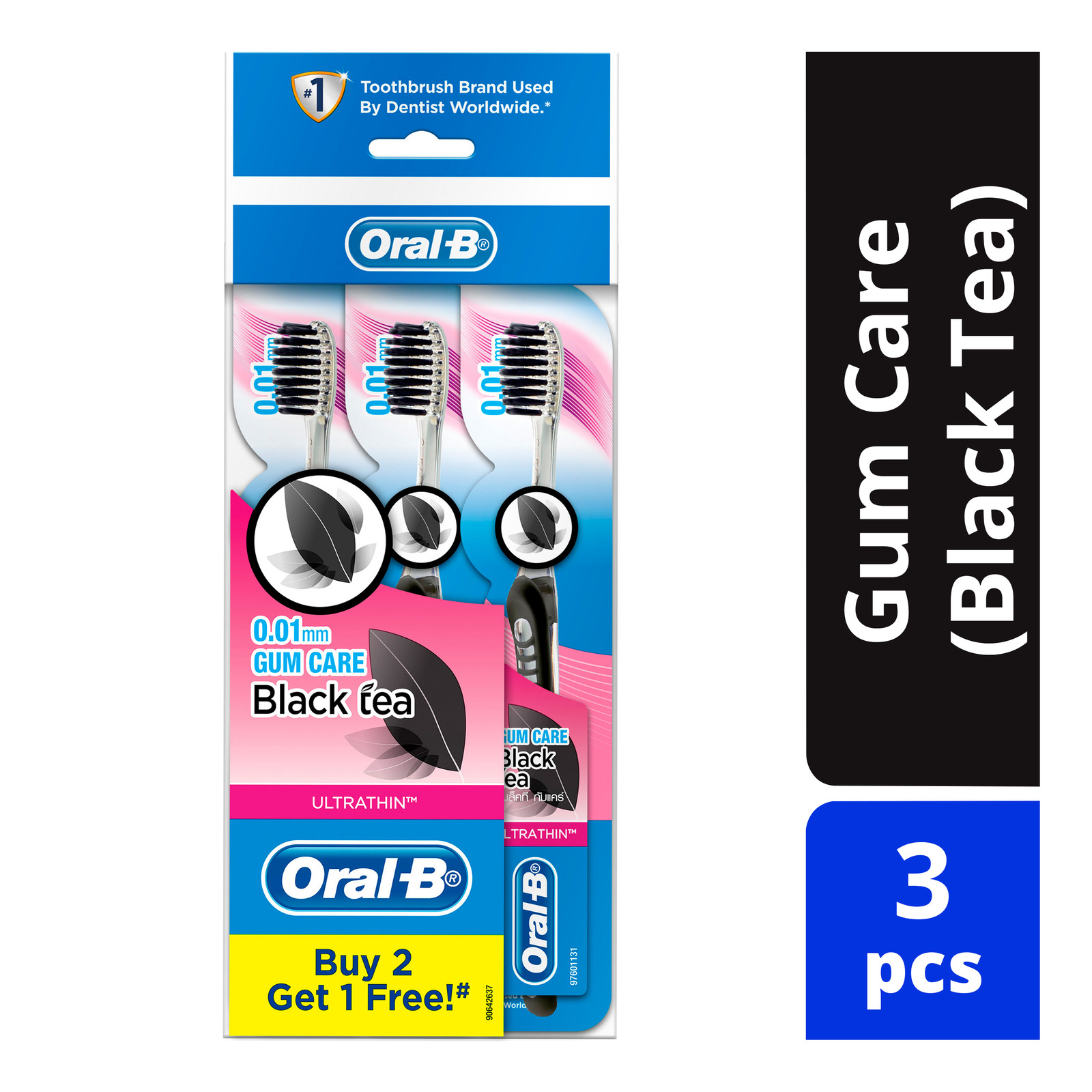 ORAL B ultrathin pro gum care extra soft manual toothbrush 3 count