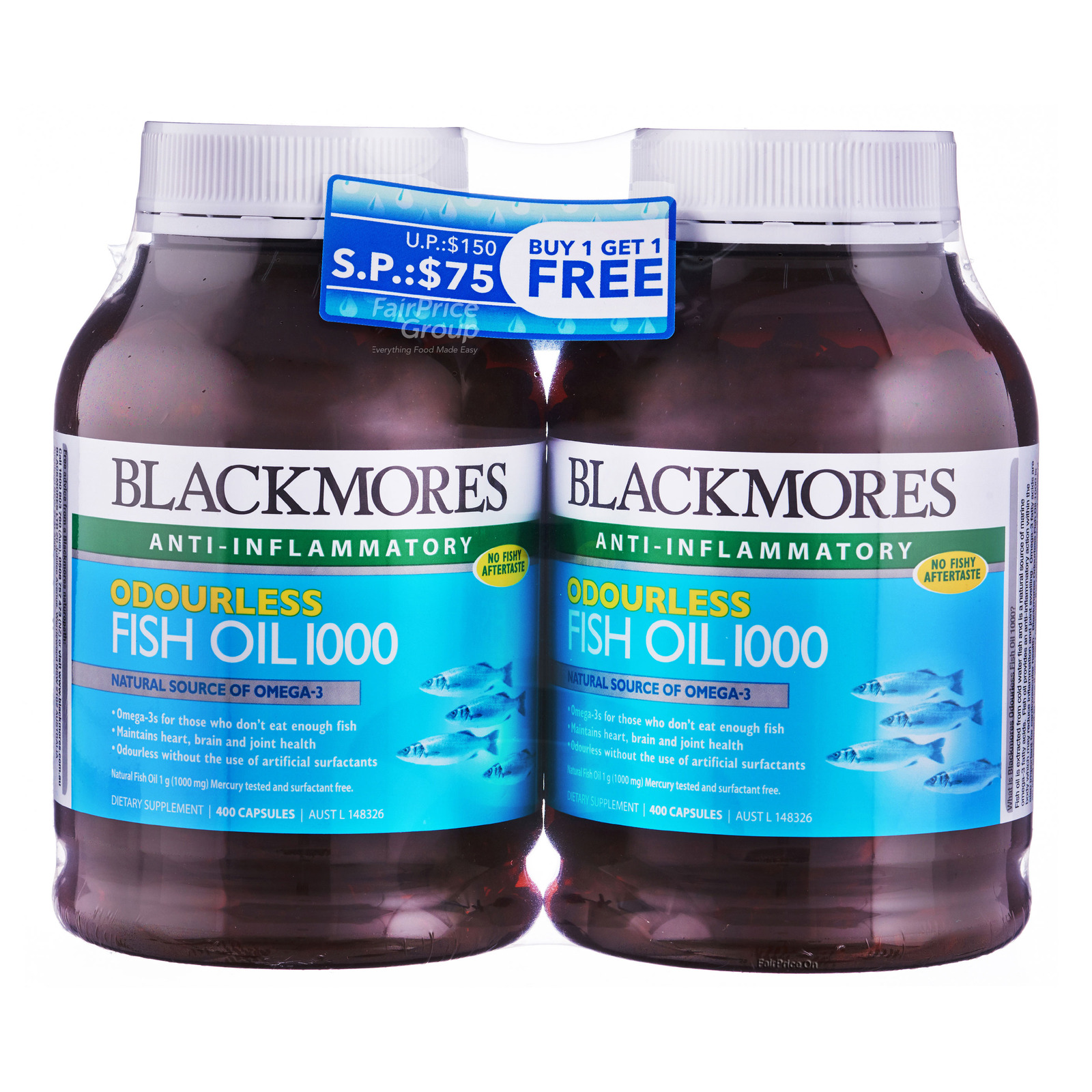 Blackmores Dietary Supplement - Fish Oil 1000 (Odourless)