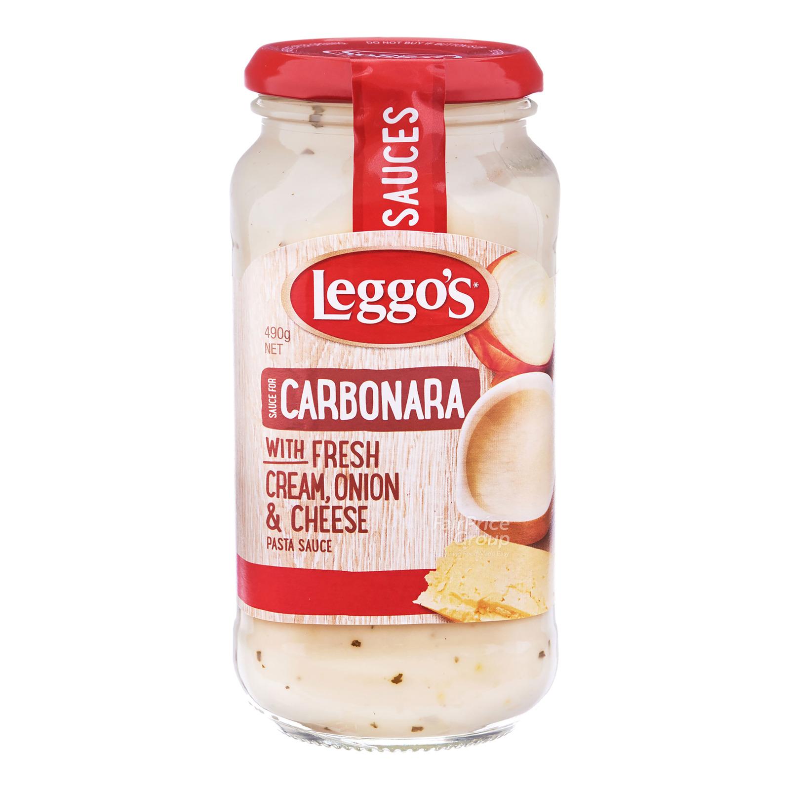 Leggo's Pasta Sauce - Carbonara (Fresh Cream, Onion & Cheese)