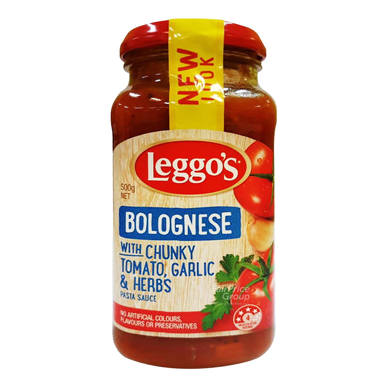 Leggo's Pasta Sauce - Bolognese (Chunky Tomato, Garlic & Herbs)
