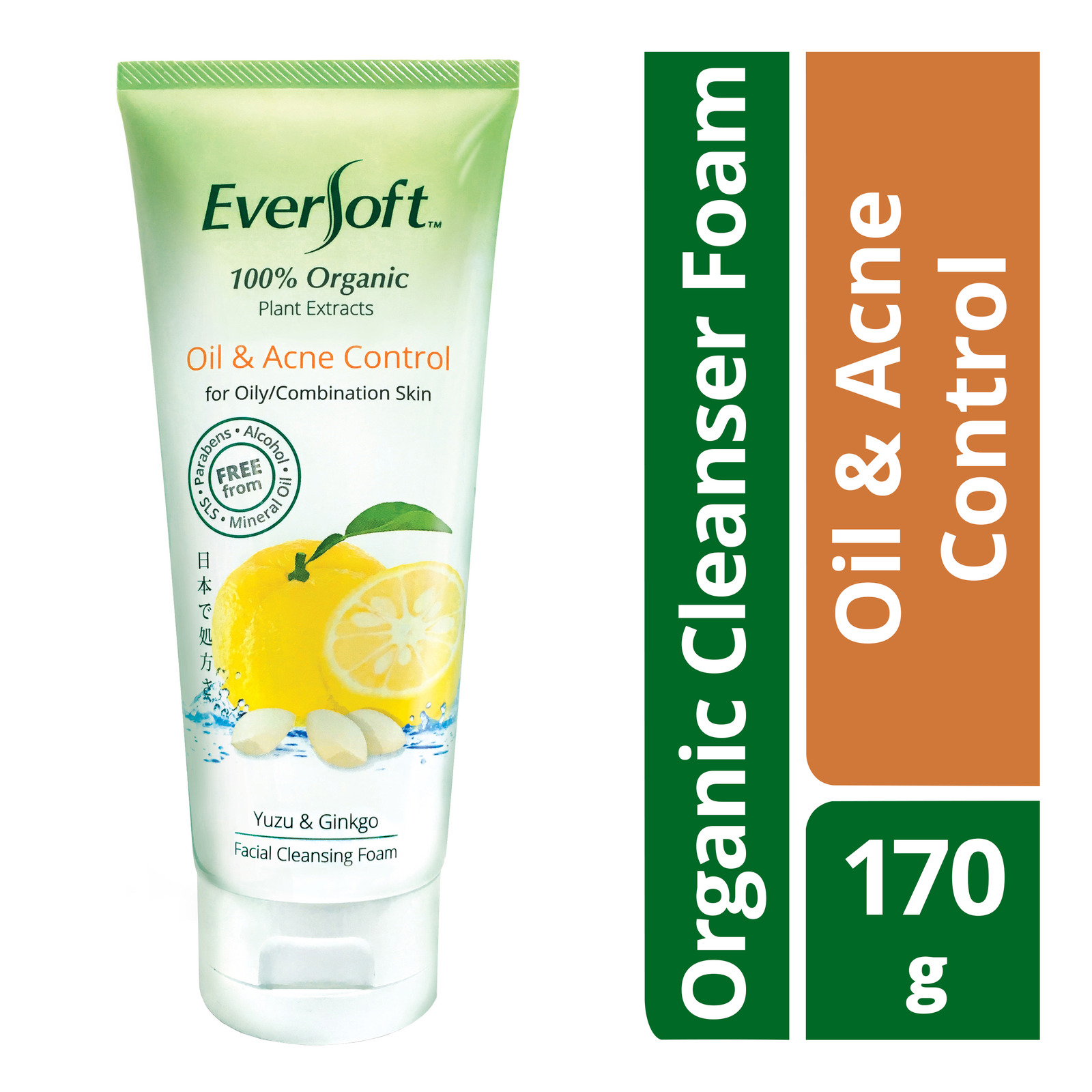Eversoft Organic Cleanser Foam - Oil & Acne Control