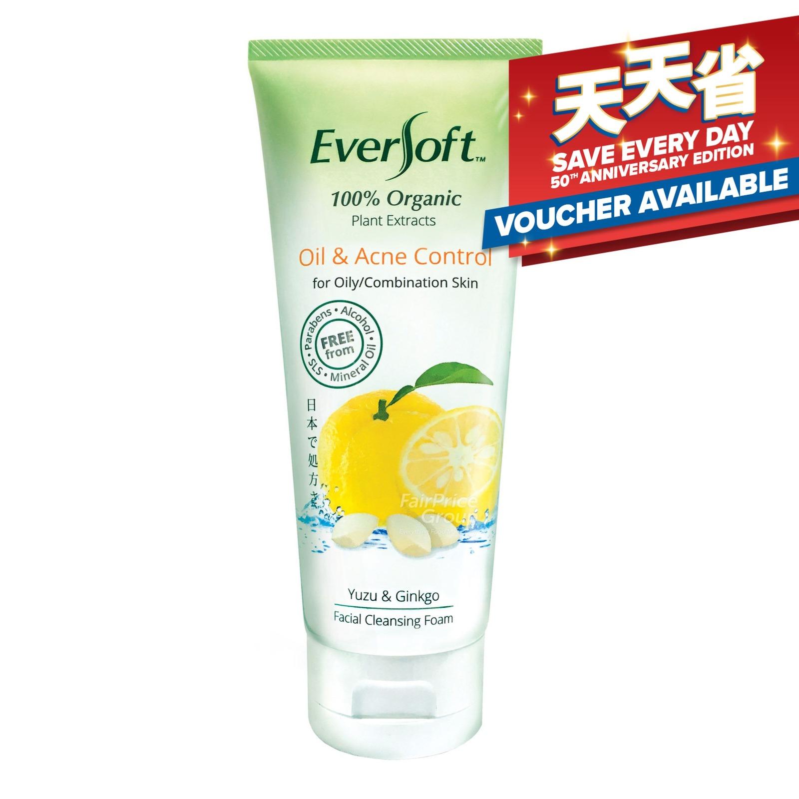 Eversoft Organic Cleanser Foam - Oil & Acne Control