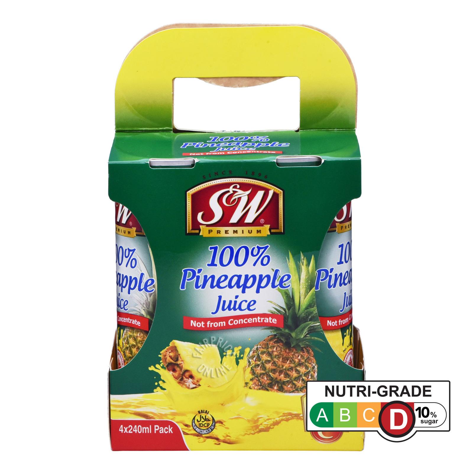 S&W Fruit Can Drink - 100% Pineapple Juice