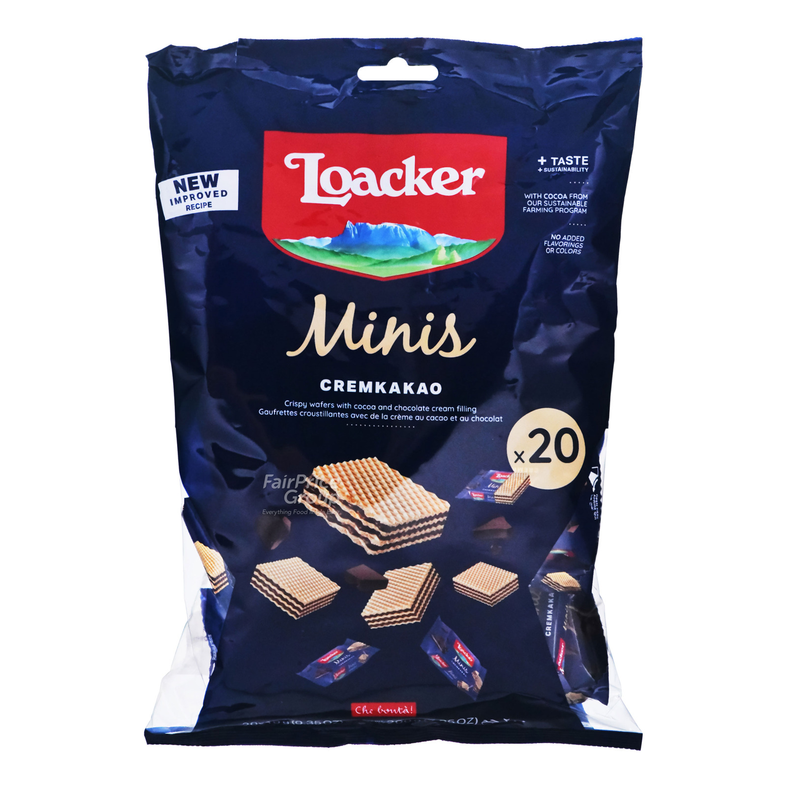 Loacker Classic Mini Crispy Wafers - Cremkakao