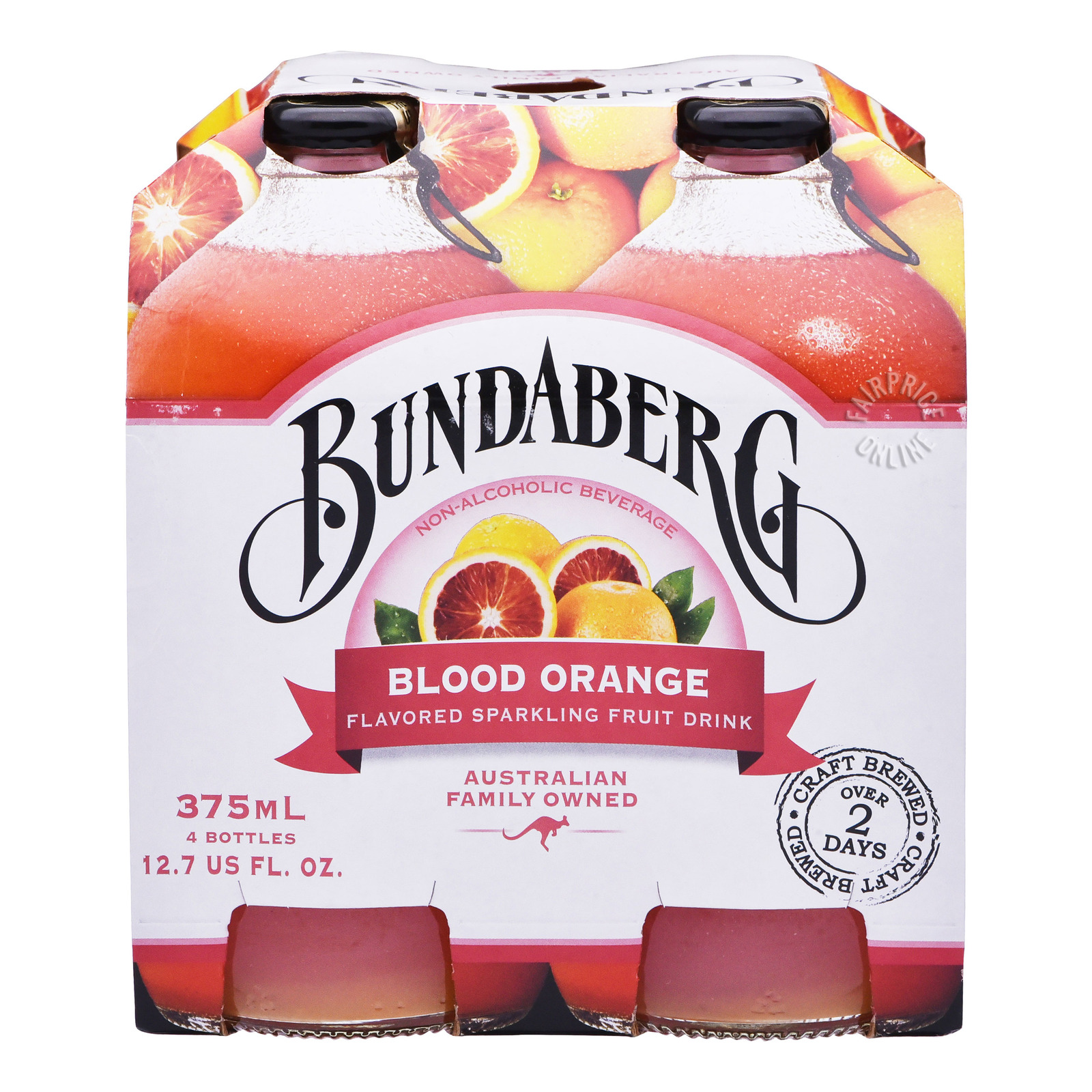 Bundaberg Sparkling Fruit Bottle Drink - Blood Orange