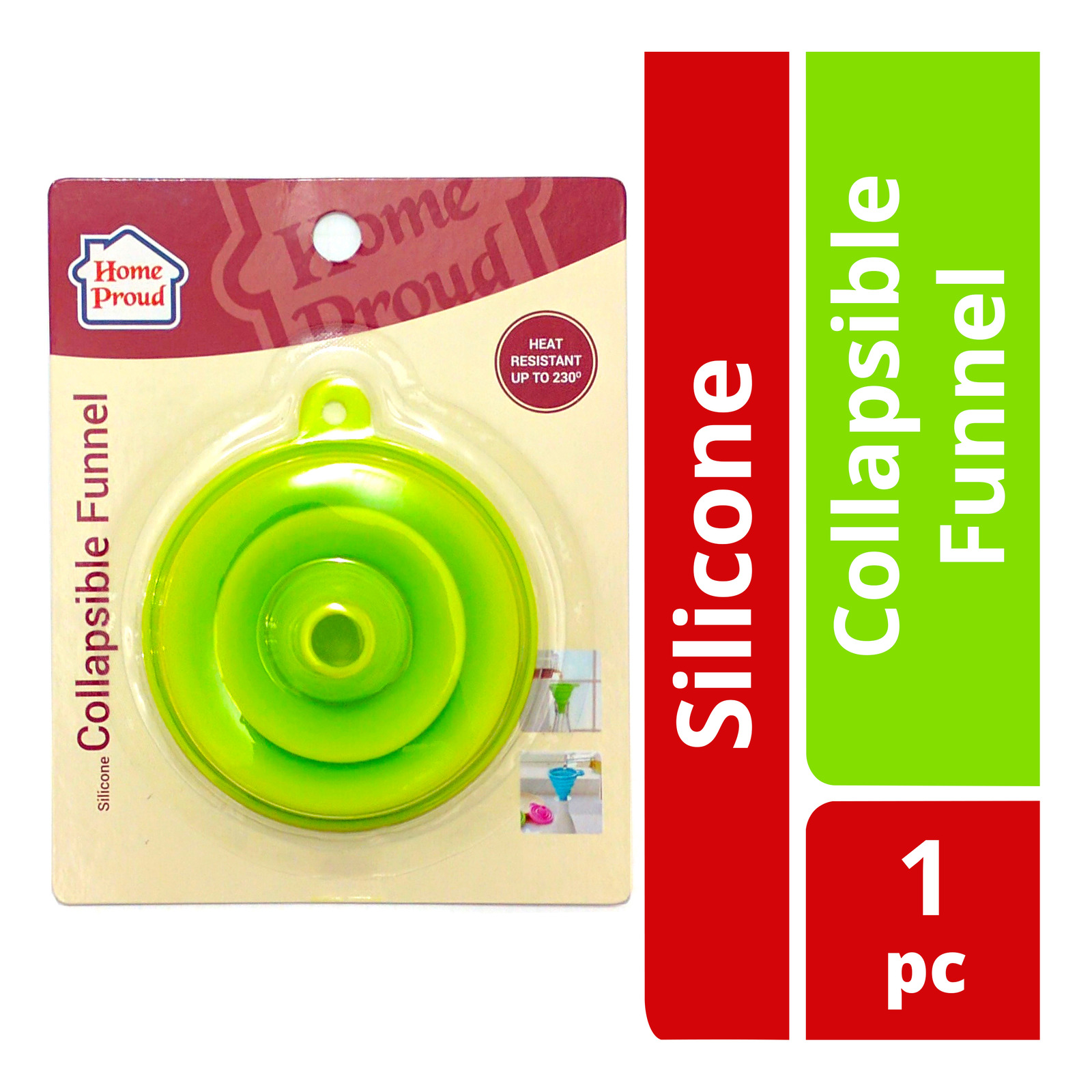 HomeProud Silicone Collapsible Funnel