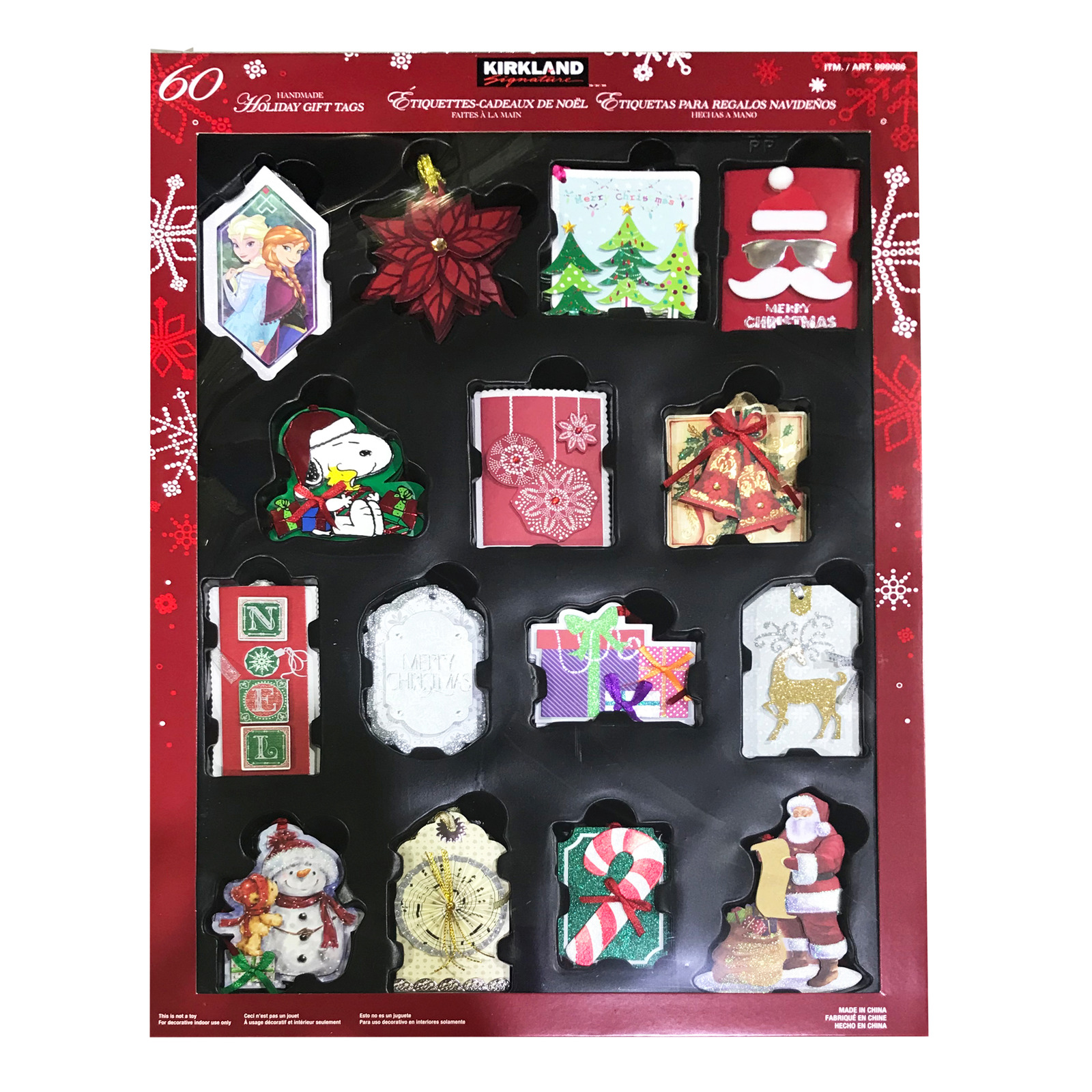 Kirkland Signature Christmas Gift Tag Set