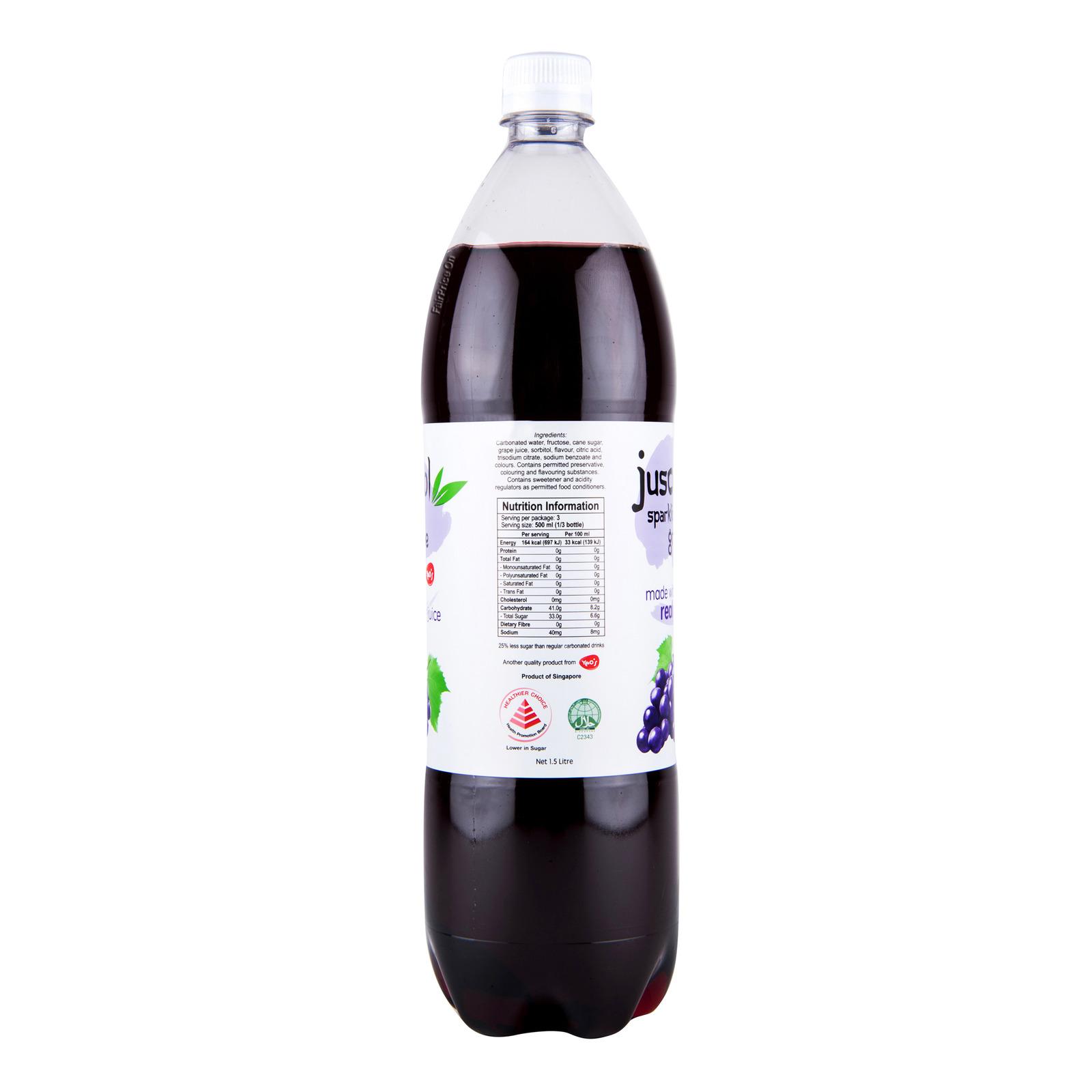 Juscool Sparkling Bottle Drink - Grape   FairPrice Singapore