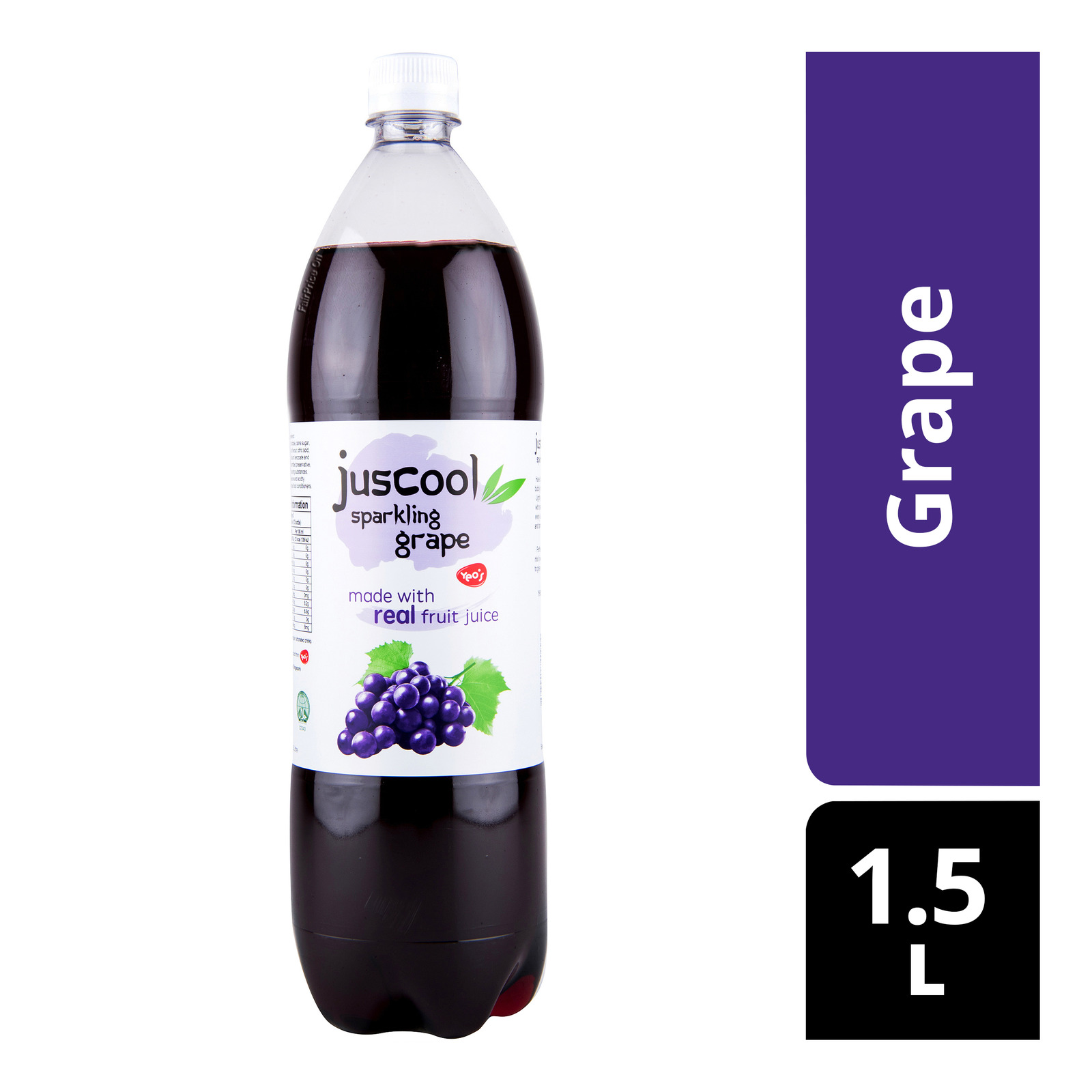 Juscool Sparkling Bottle Drink - Grape