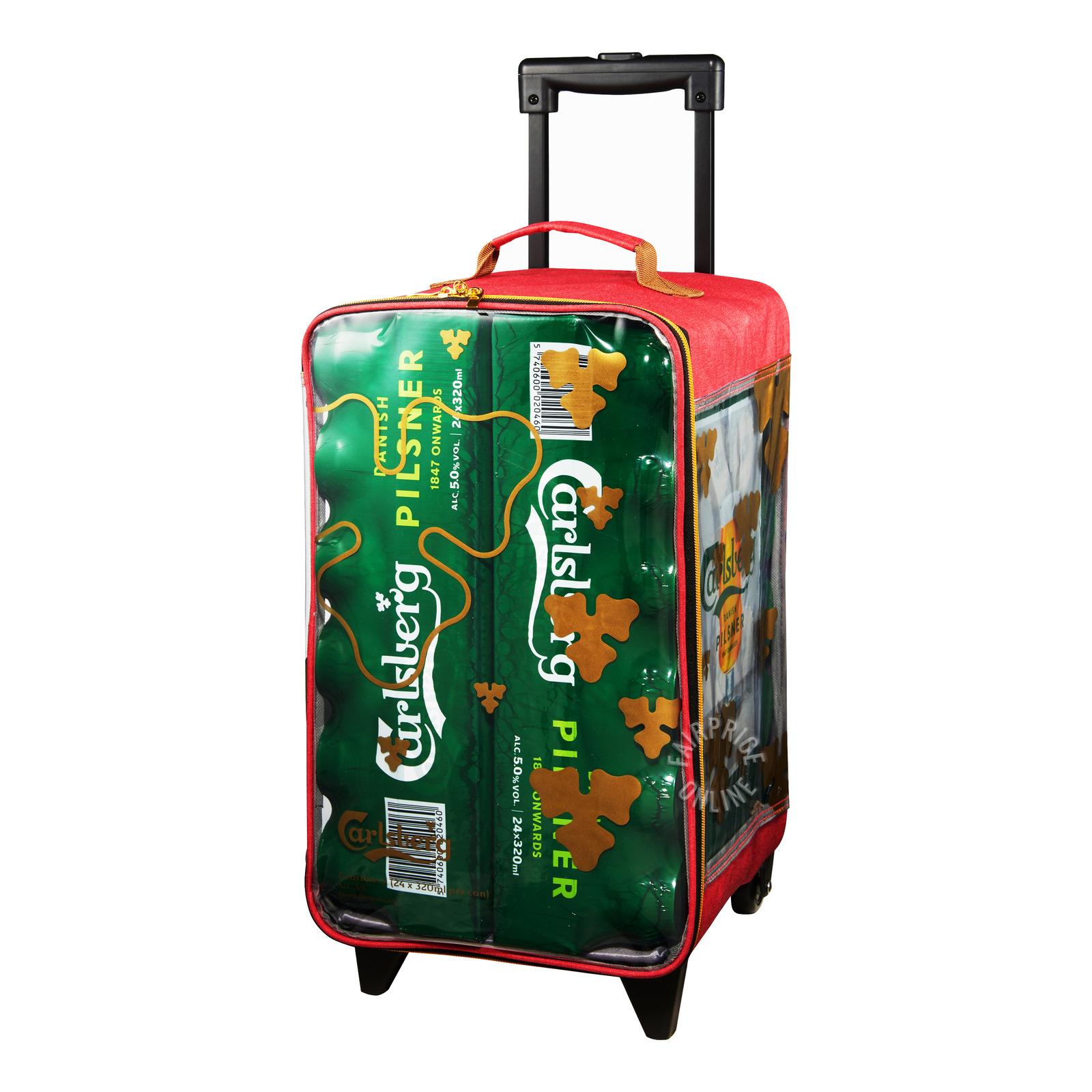 Carlsberg Can Beer - Green Label + Trolley Bag
