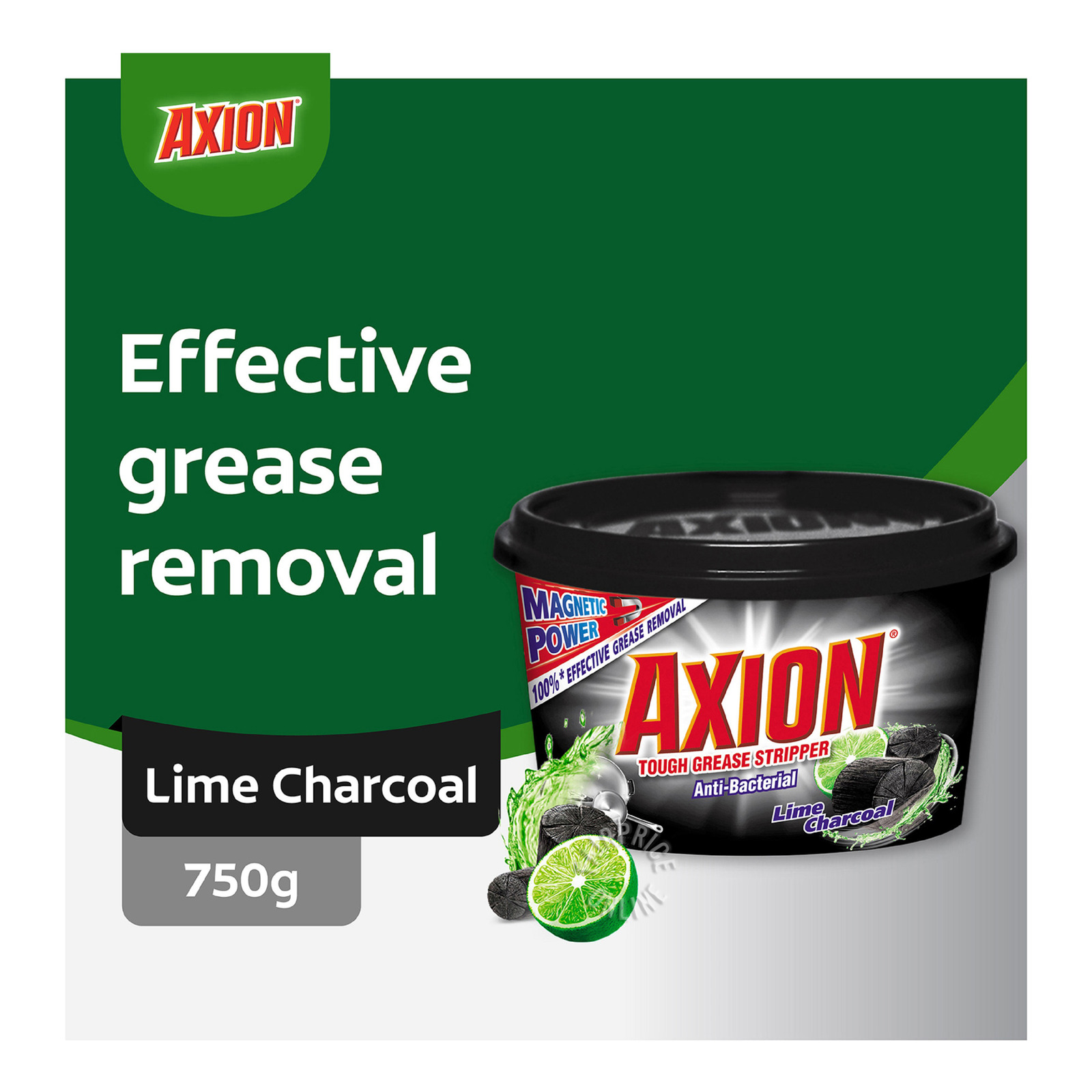 Axion Dishwash Paste - Lime Charcoal
