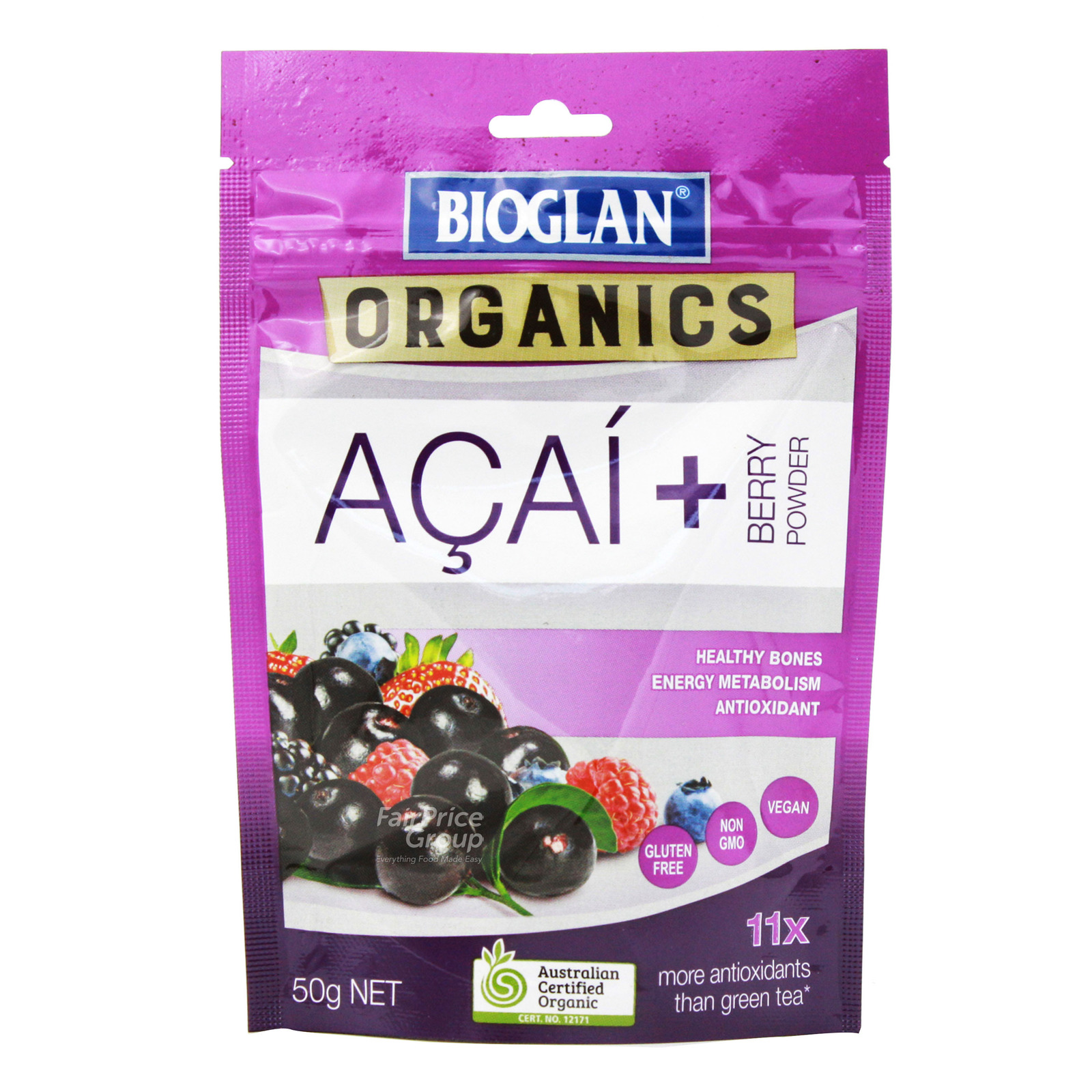 Bioglan Organics Powder - Acai + Berry