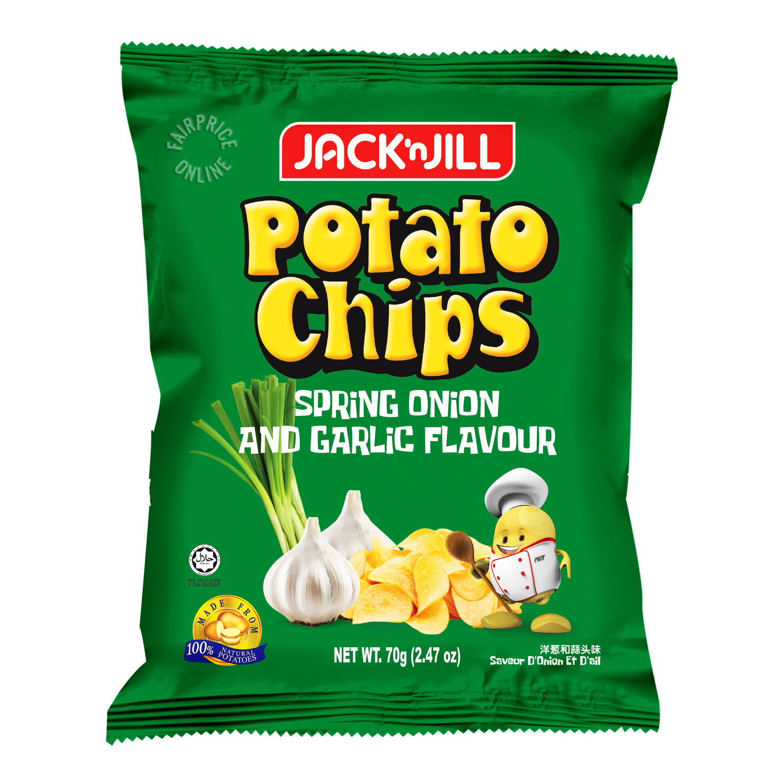 Jack 'n Jill Potato Chips - Spring Onion