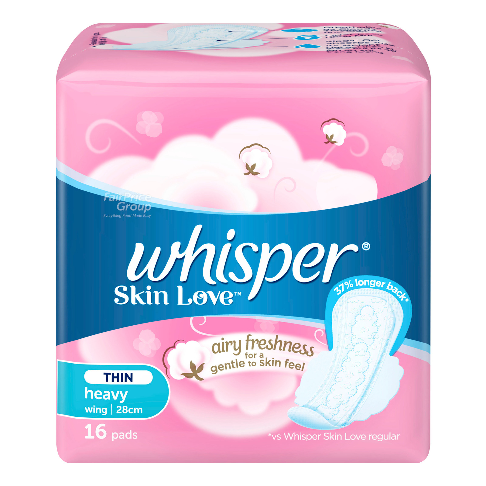 Whisper Skin Love Ultra Slim Day Wing Sanitary Pads 24CM