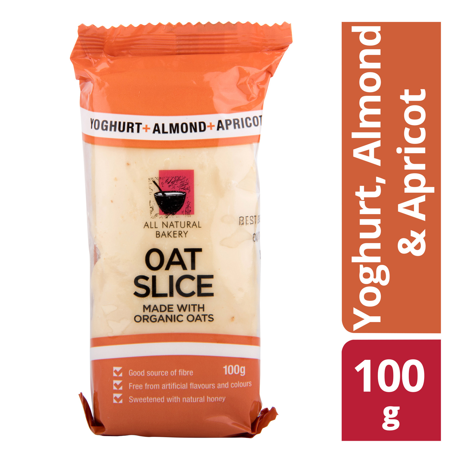 All Natural Bakery Oat Slice - Yoghurt, Almond & Apricot