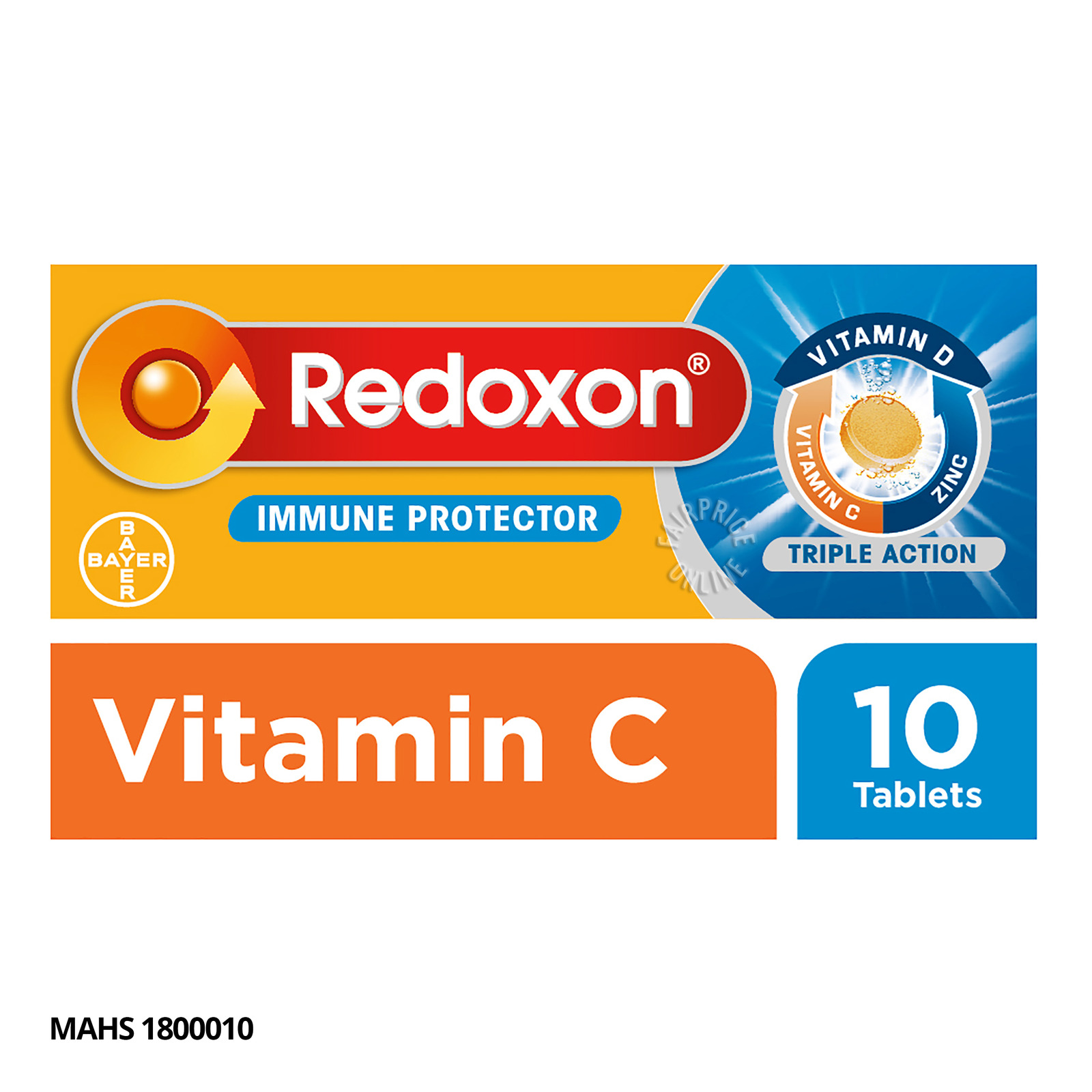 Redoxon Triple Action Effervescent Tablets - Orange