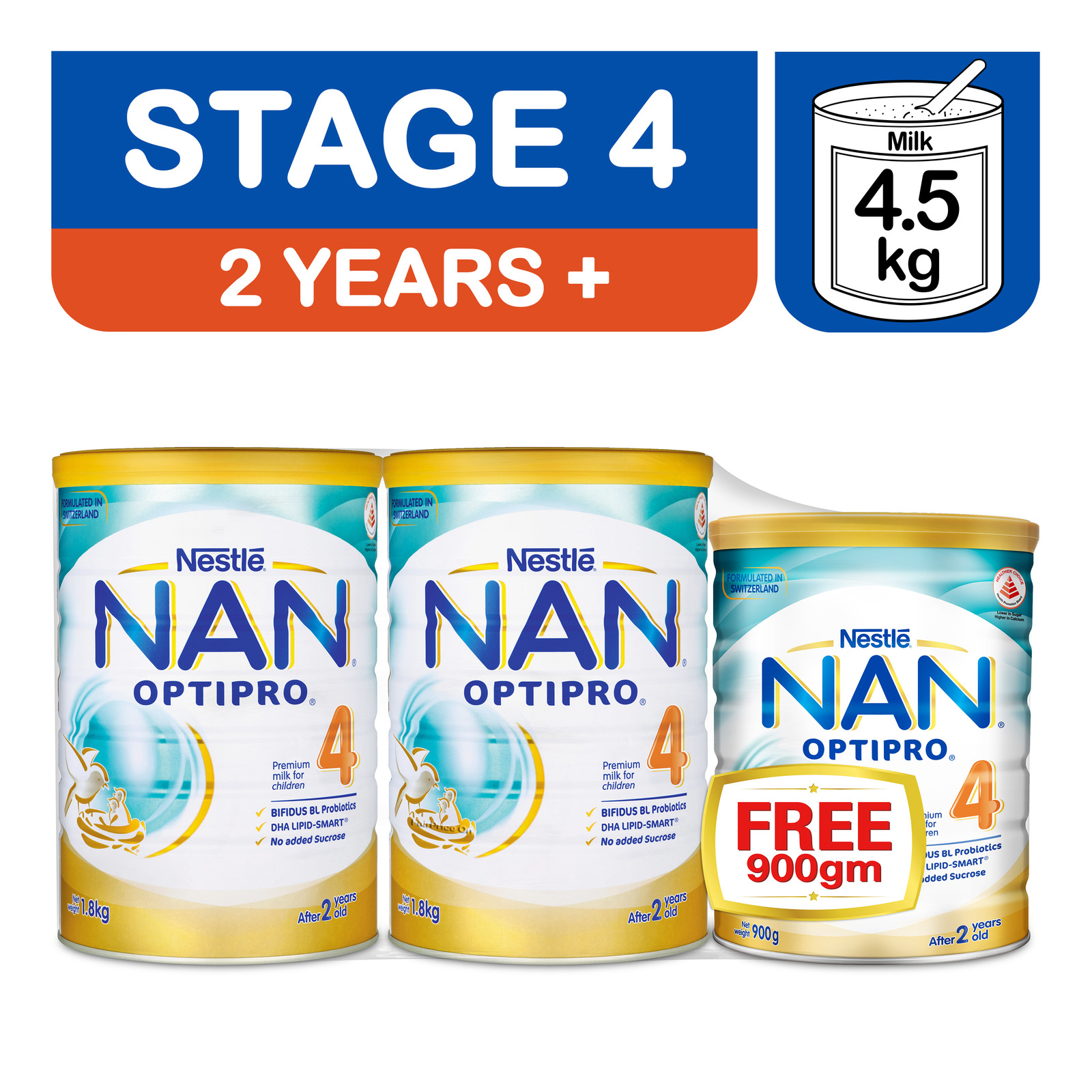 Nestle Nan Optipro Kid Children Formula -Stage 4