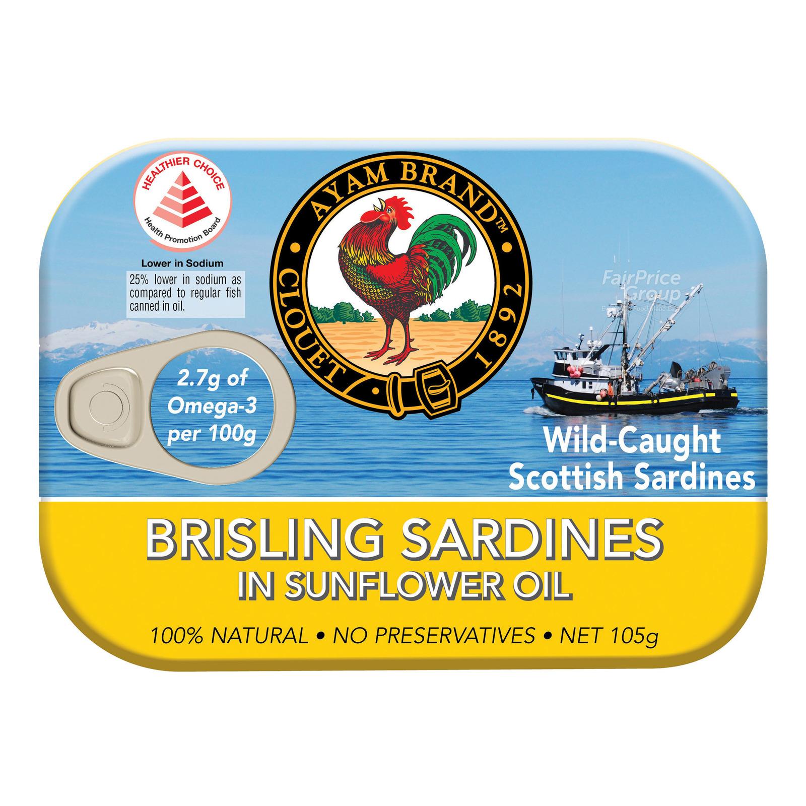 Ayam Brand Brisling Sardines - Sunflower Oil