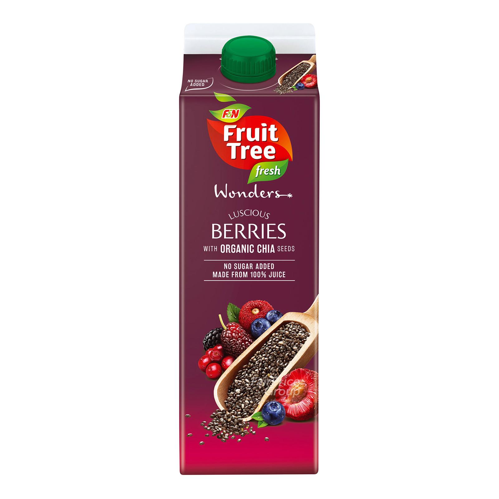 F&N Fruit Tree Fresh Wonders Juice  - Berries & Chia Seeds