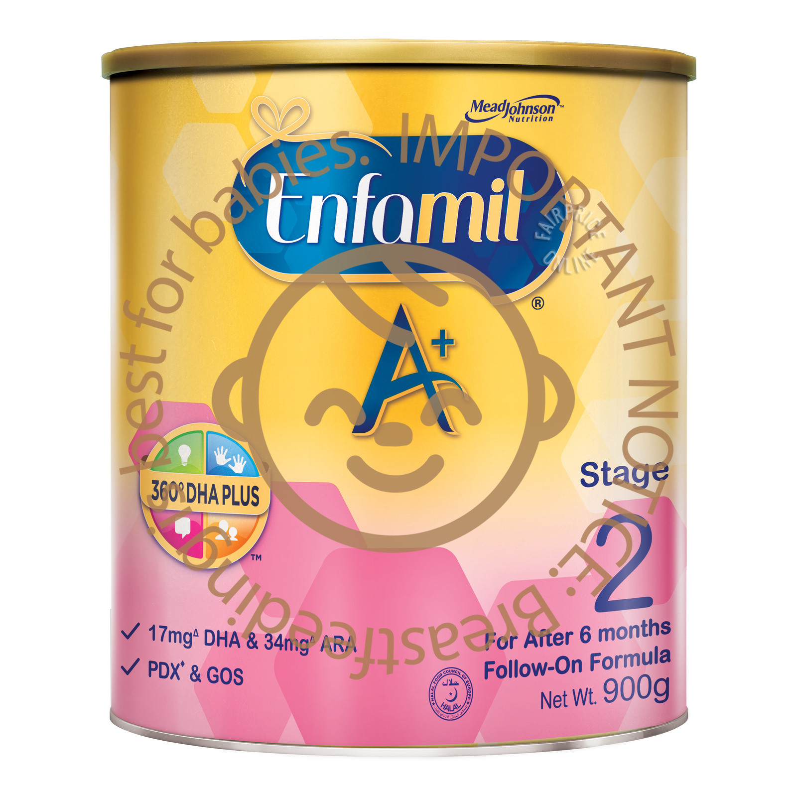 Enfamil A+ with 360-degree DHA PLUS Stage 2 (900g)