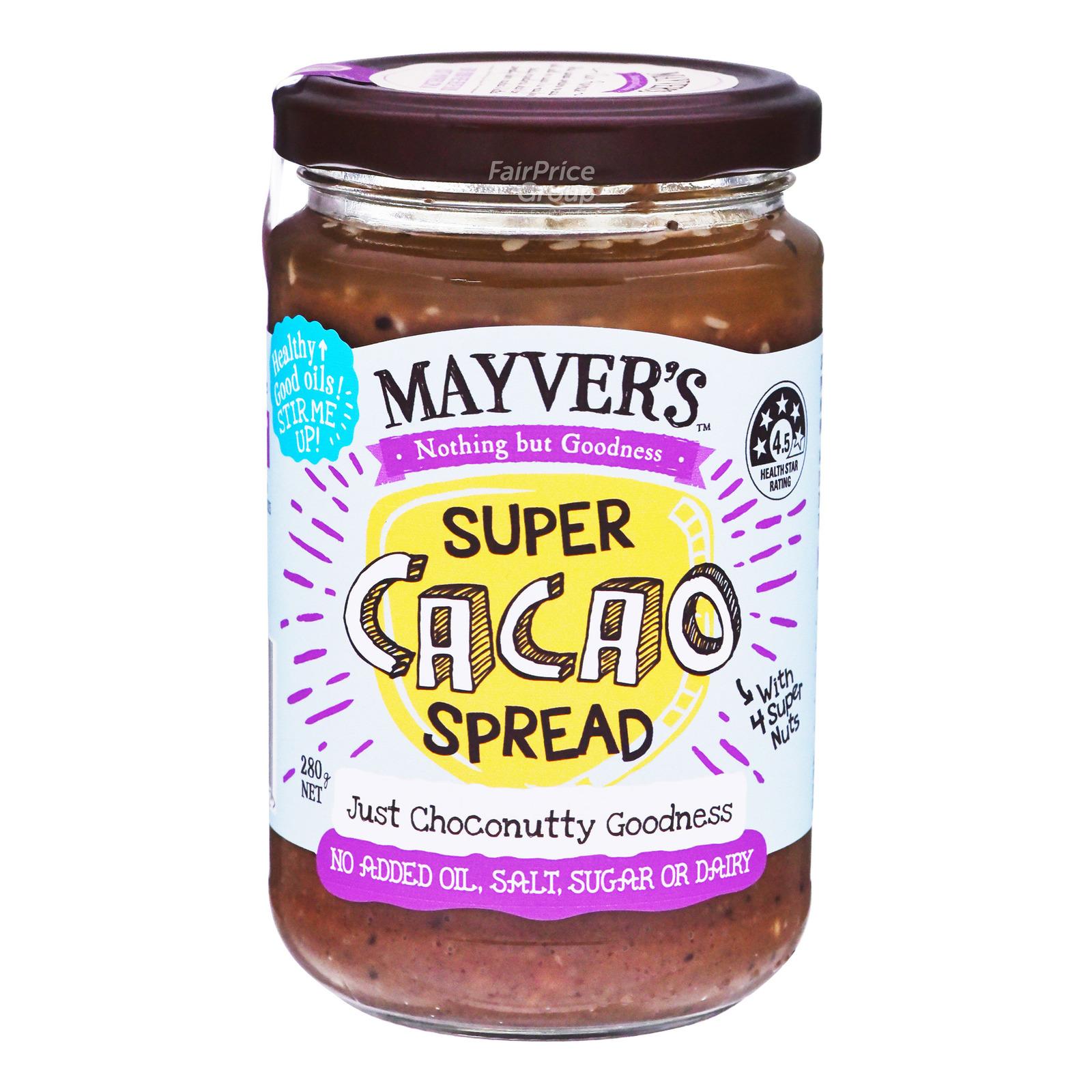 Mayvers 100% Natural Super Spread - Dark Cacao
