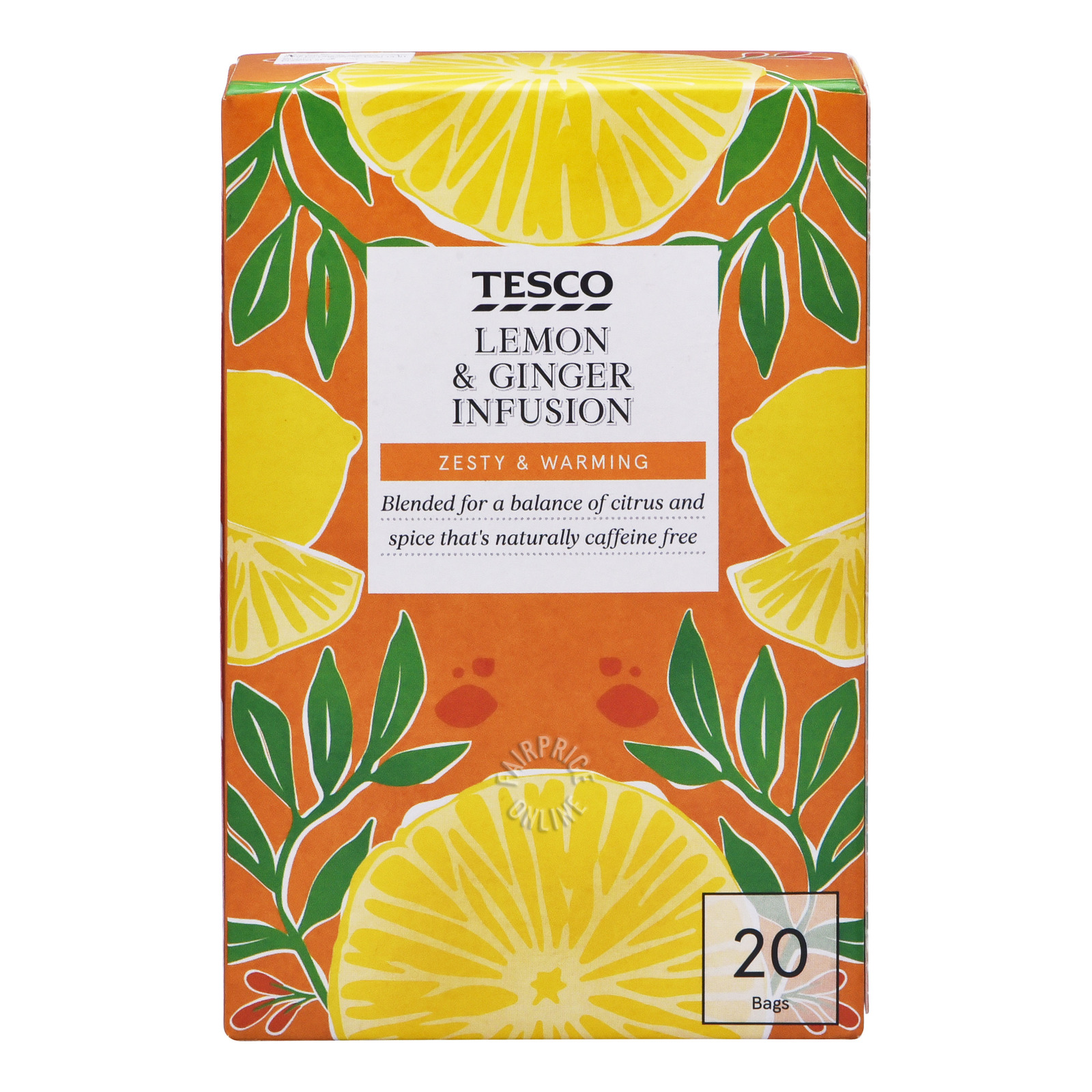 Tesco Infusion Tea Bags - Lemon & Ginger