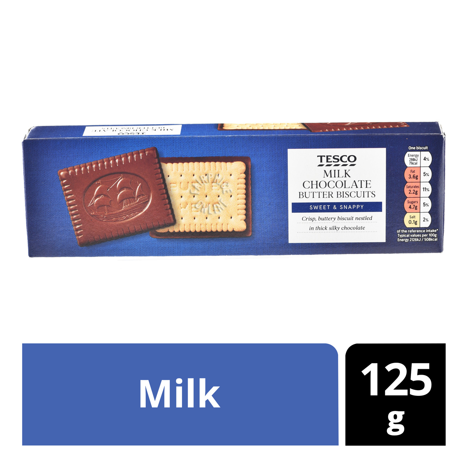Tesco Chocolate Butter Biscuits - Milk