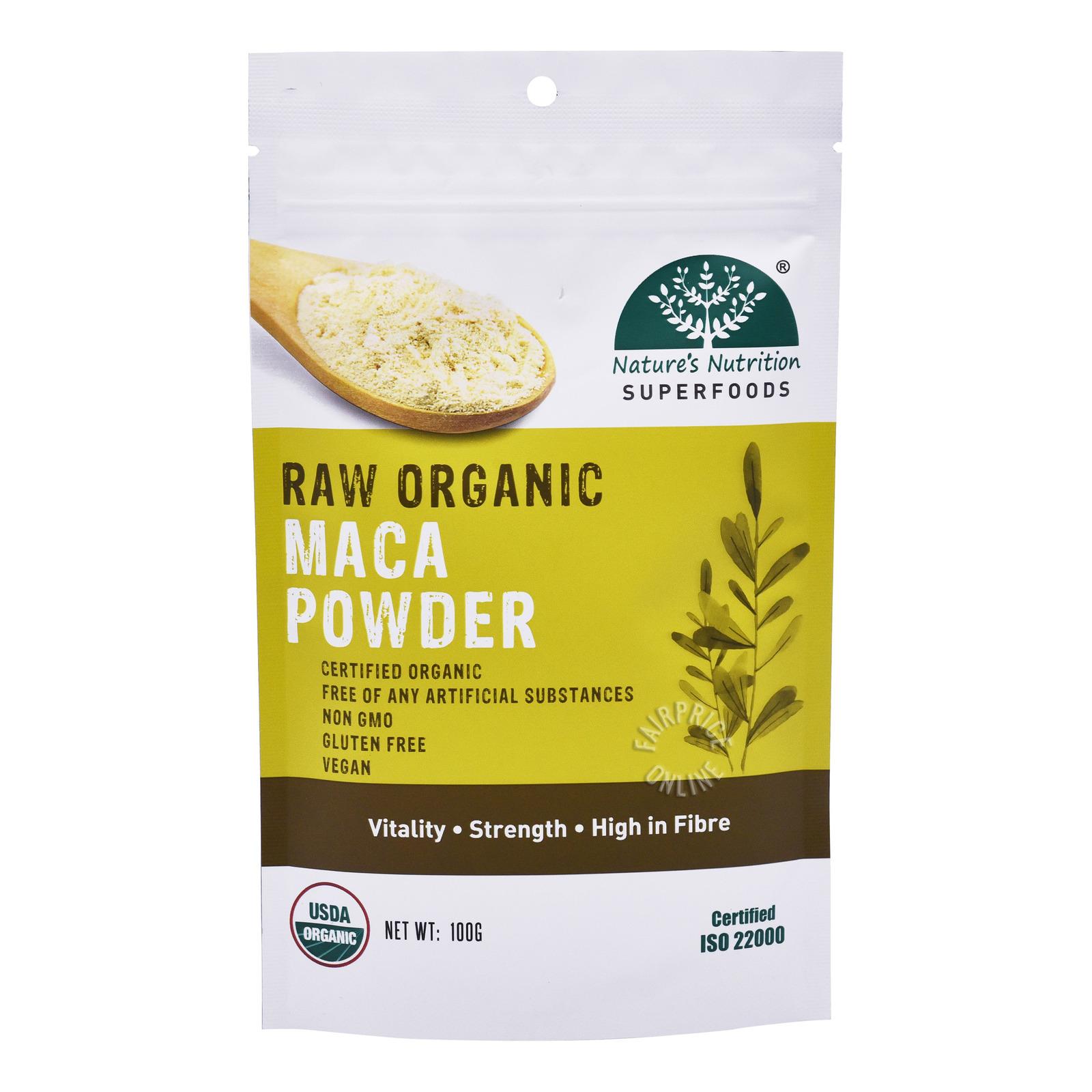 Nature's Nutrition Superfoods - Raw Organic Maca Powder